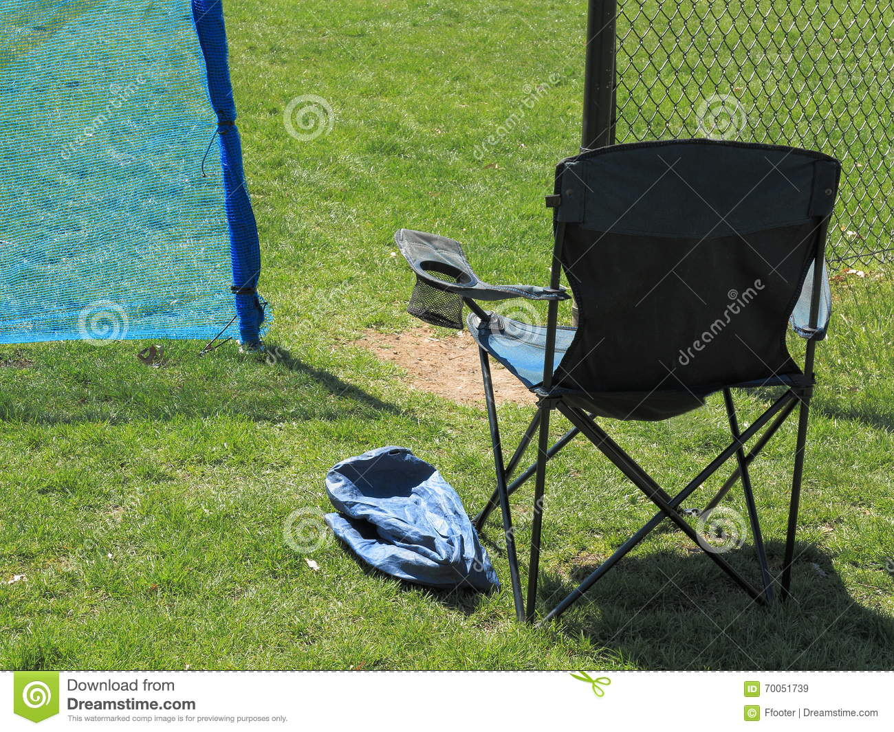 Local Outdoor Sports Chair Stock Image