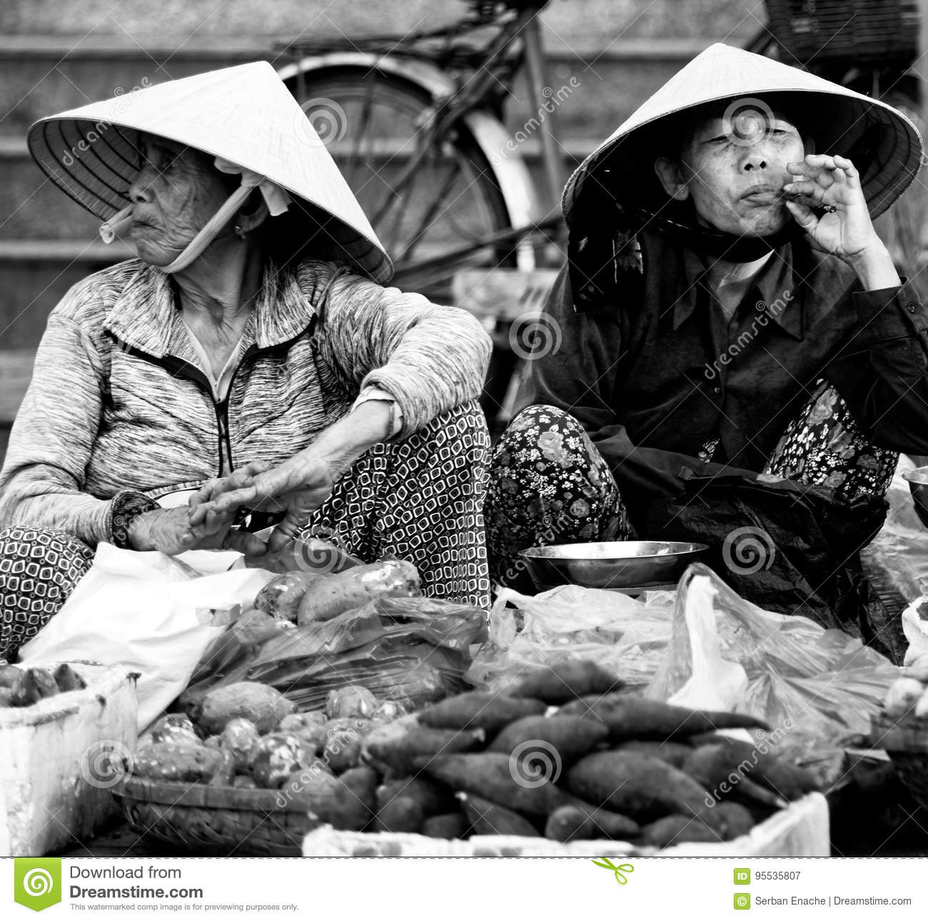 Local people at market in Hoi An