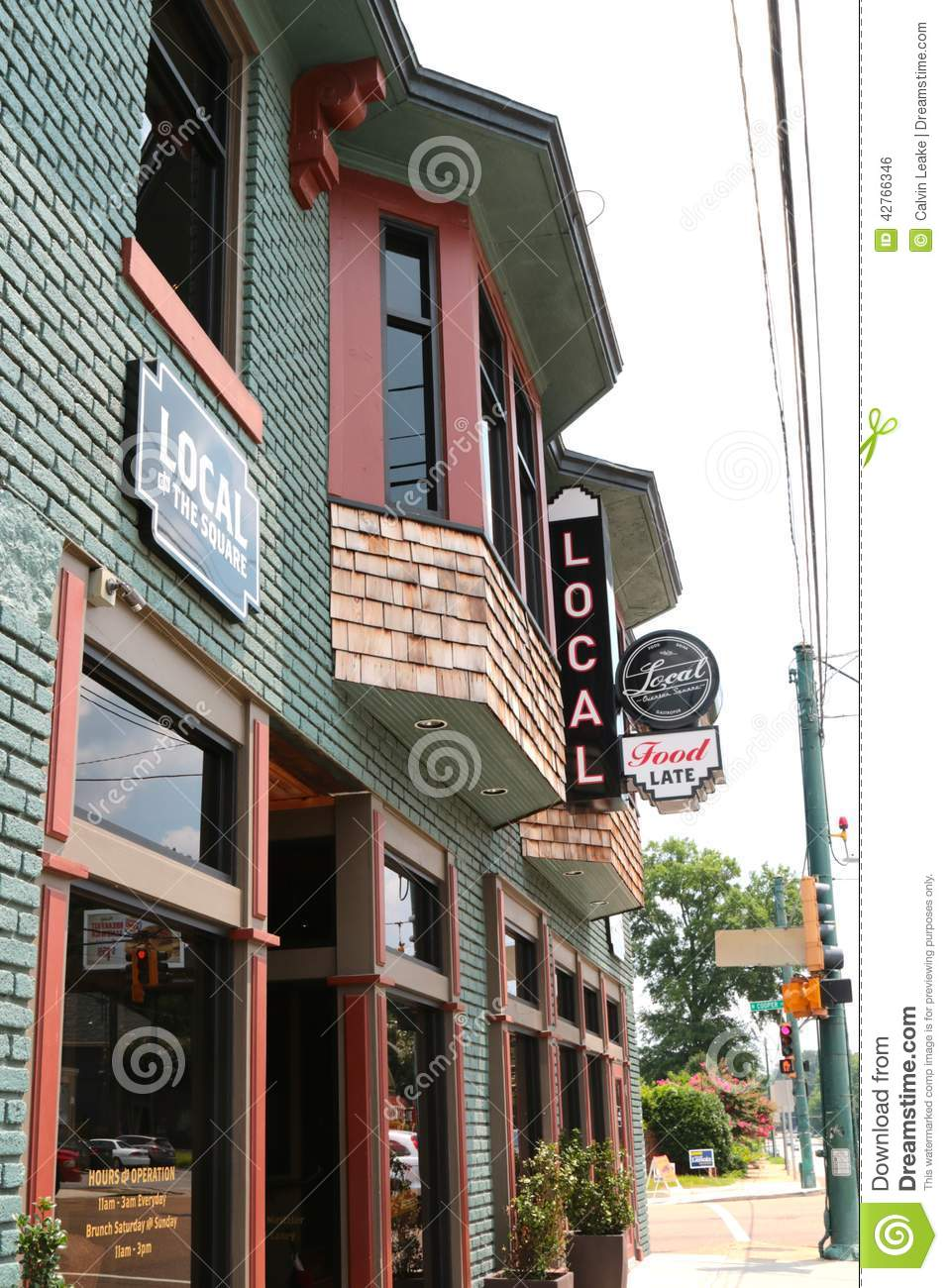 local 39 s bar and eatery memphis tennessee editorial photo image 42766346. Black Bedroom Furniture Sets. Home Design Ideas