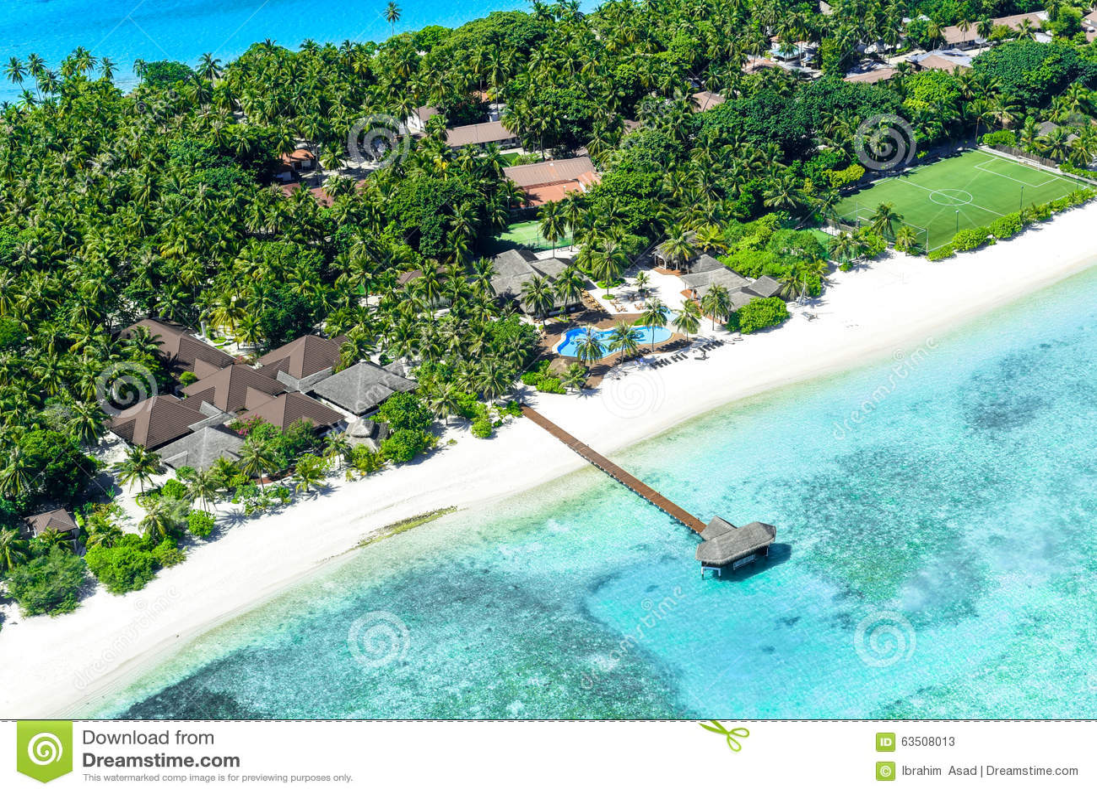 Località Di Soggiorno Del Palm Beach, Isola Delle Maldive Immagine ...