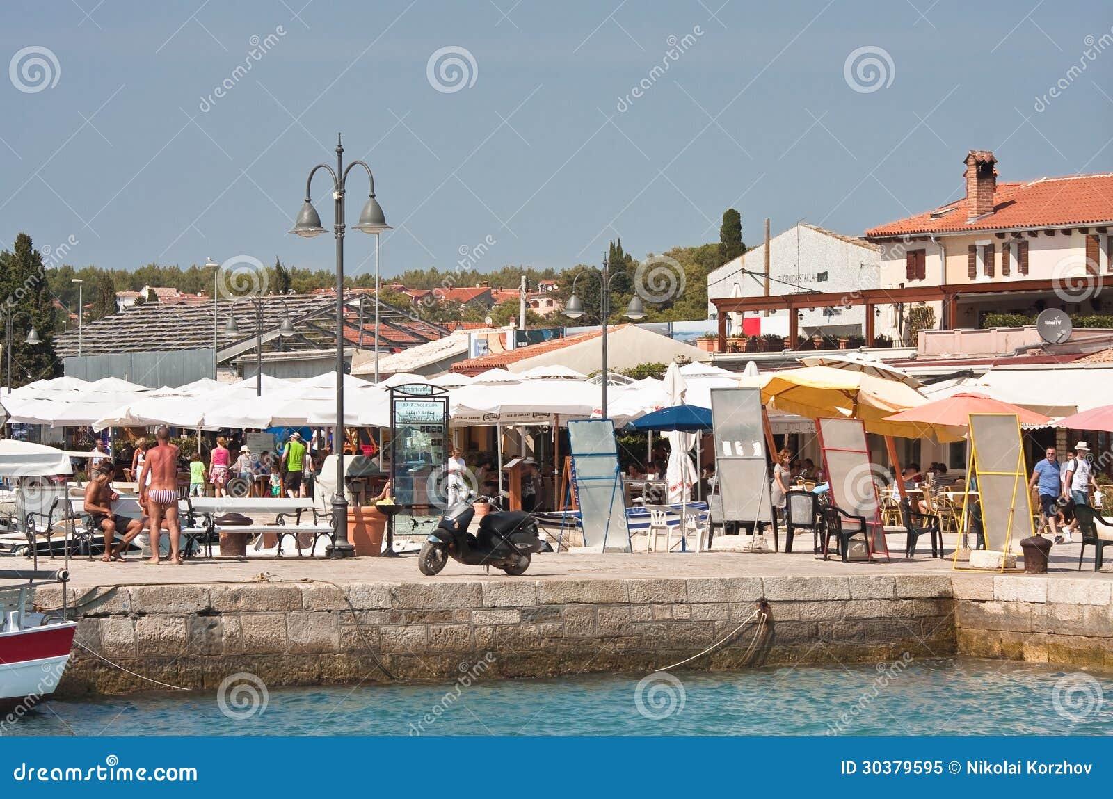 Località Di Soggiorno Fazana, Croazia Immagine Editoriale - Immagine ...