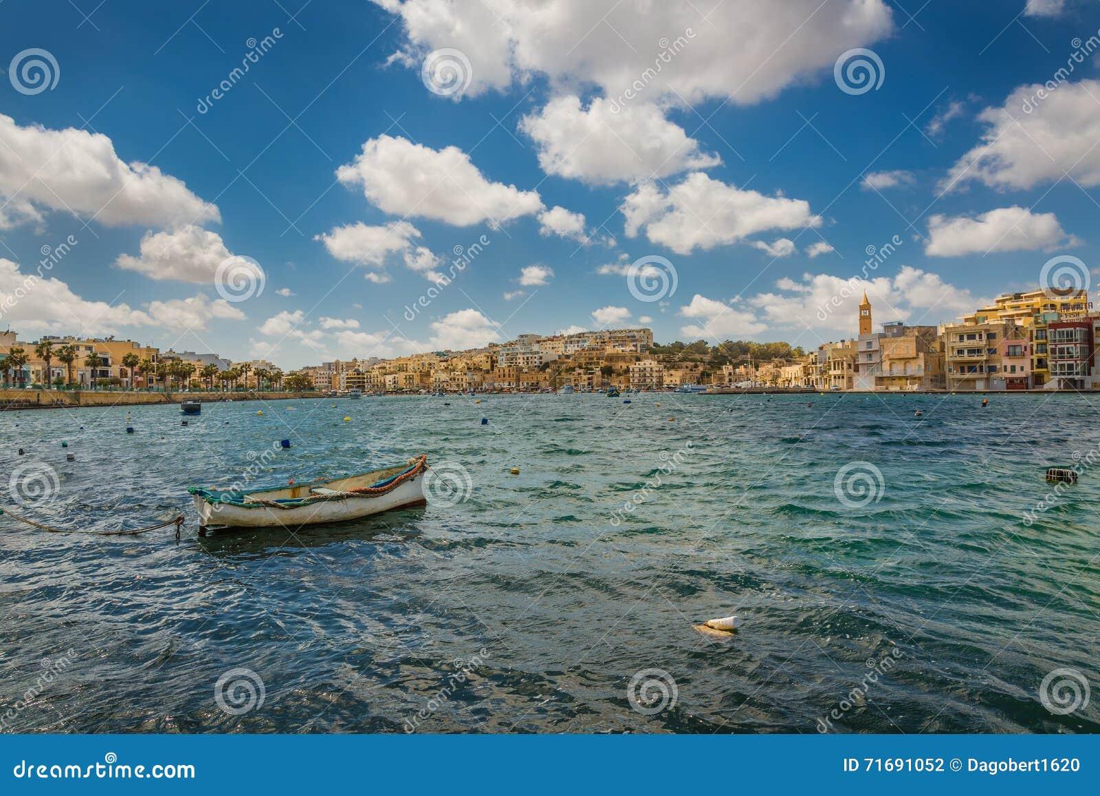 Località Di Soggiorno Marsaskala, Malta Fotografia Editoriale ...