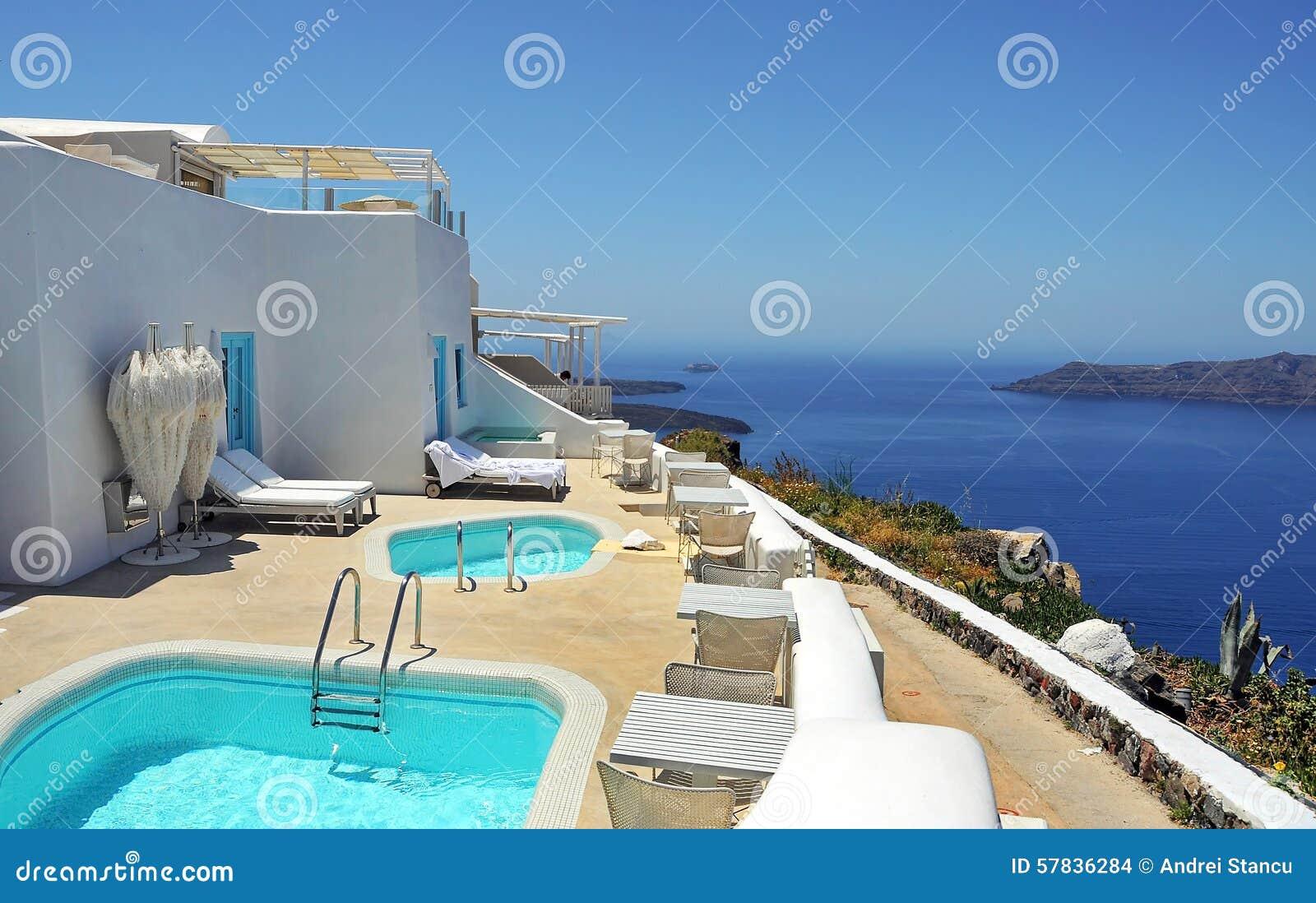 Località Di Soggiorno In Santorini Fotografia Stock - Immagine di ...