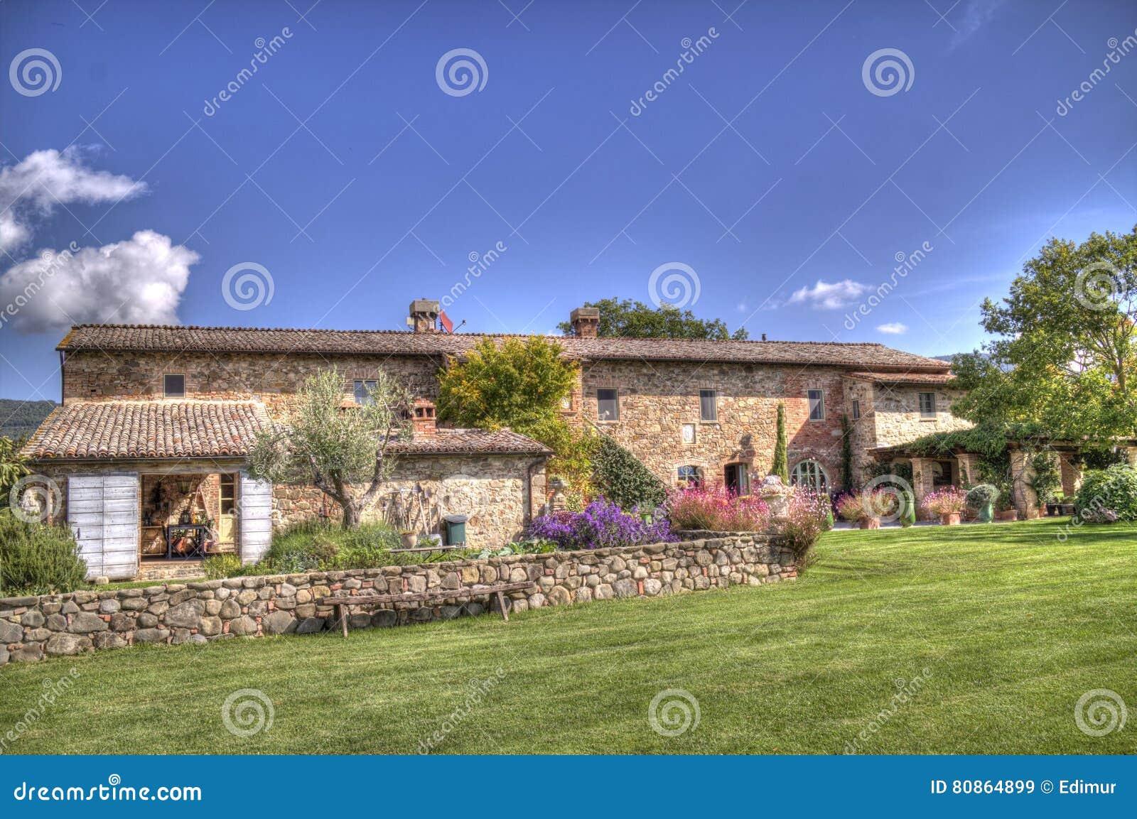 Località Di Soggiorno Toscana Della Villa Immagine Stock - Immagine ...