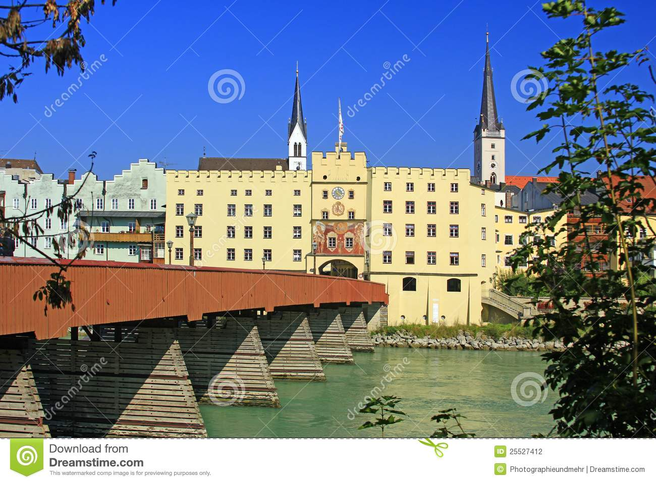 Wasserburg Am Inn Germania locanda di wasserburg, baviera fotografia stock - immagine