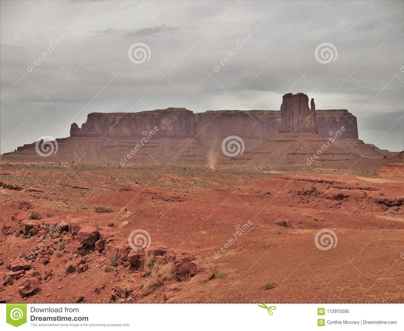 Monument Valley under Cloudy Skies