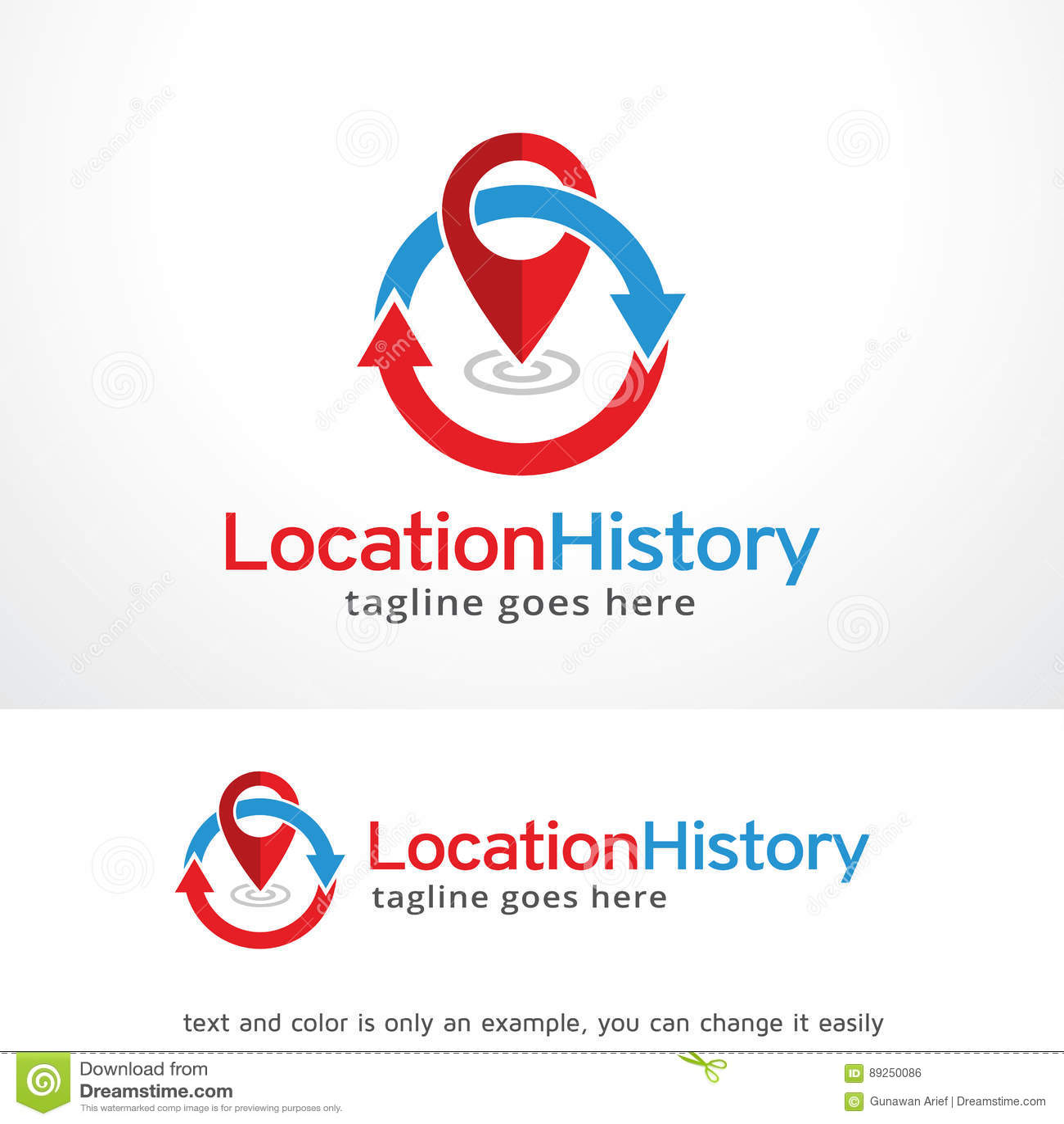 Location History Logo Template Design Vector Emblem Design Concept