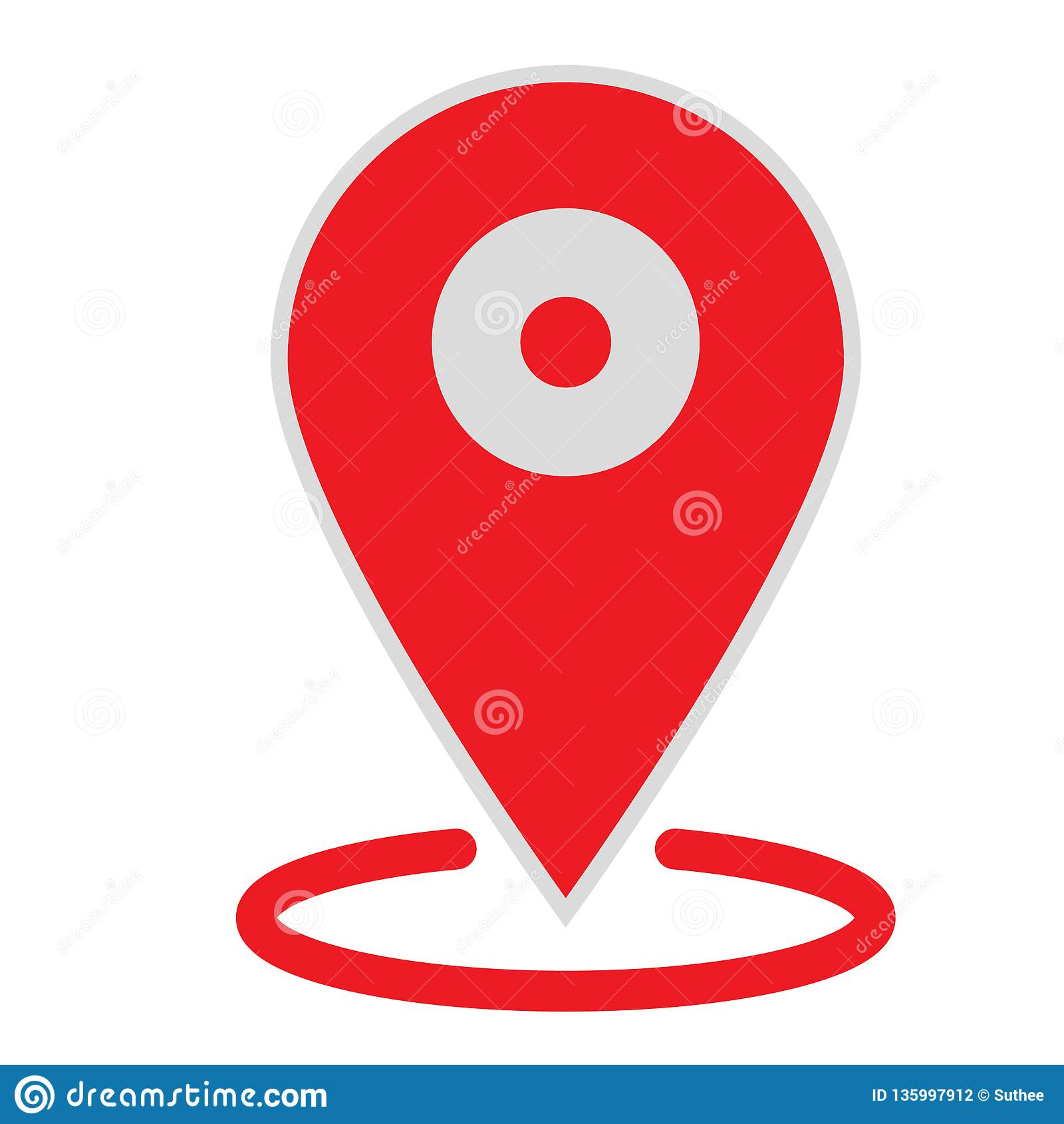 Location Map Icon On White Background  Flat Style  Location