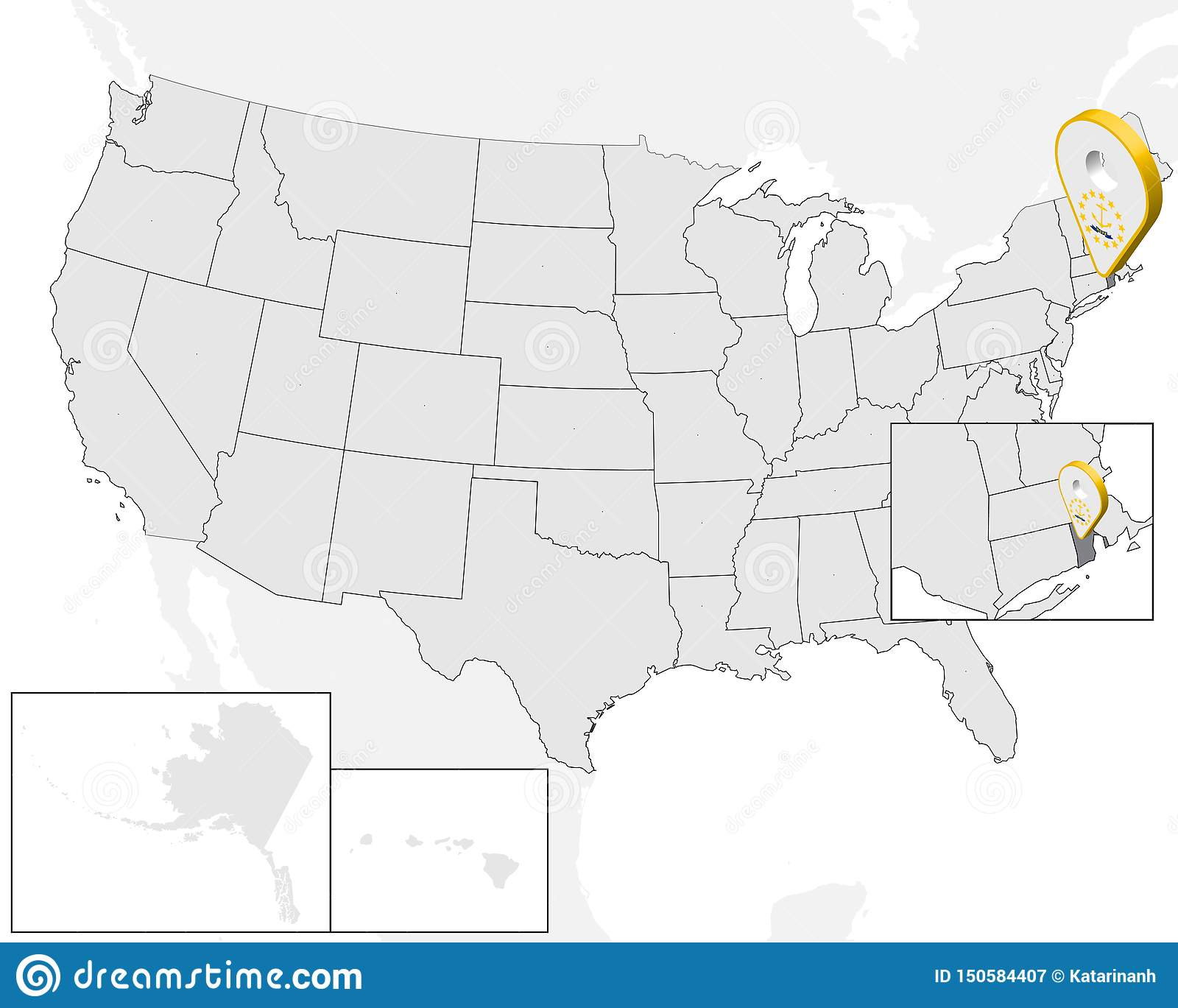 rhode island on the us map Location Map Rhode Island On Map Usa United States Of America 3d rhode island on the us map