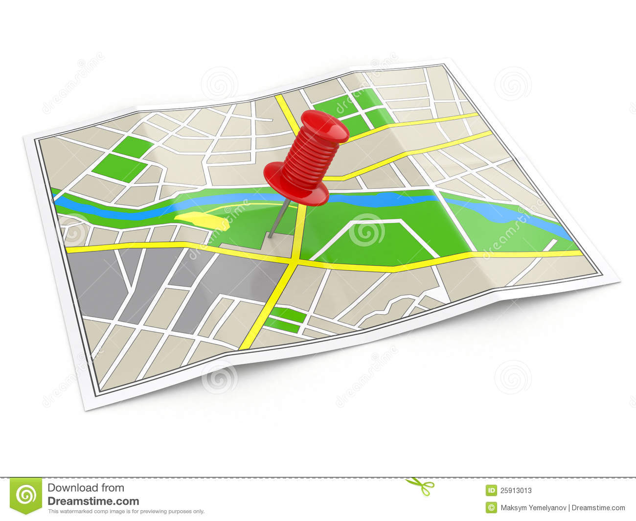 Location. Map And Thumbtack. GPS Concept. Stock Photos - Image ...