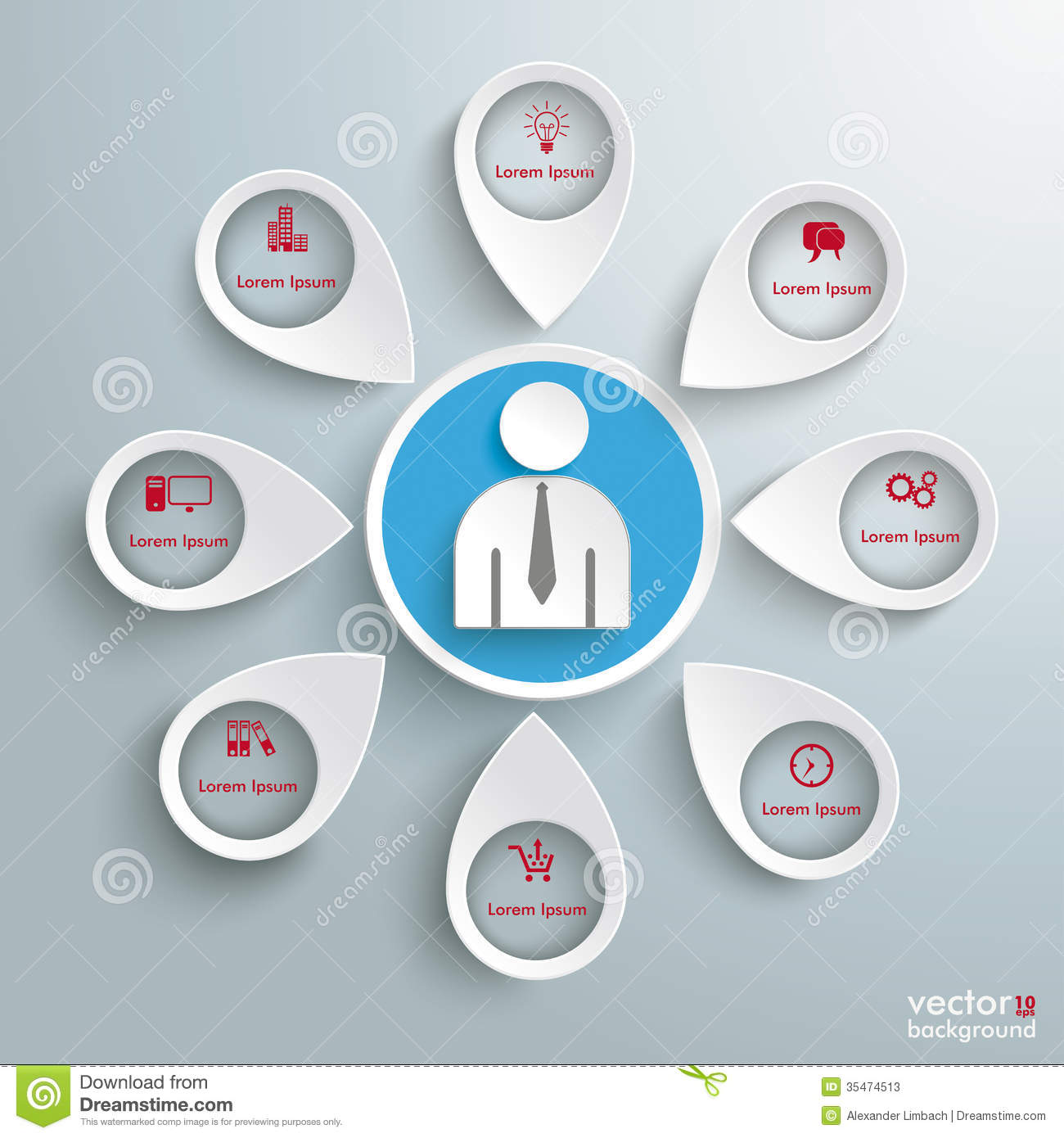 Background image location - 8 Location Markers Human Infographic Piad Stock Photos