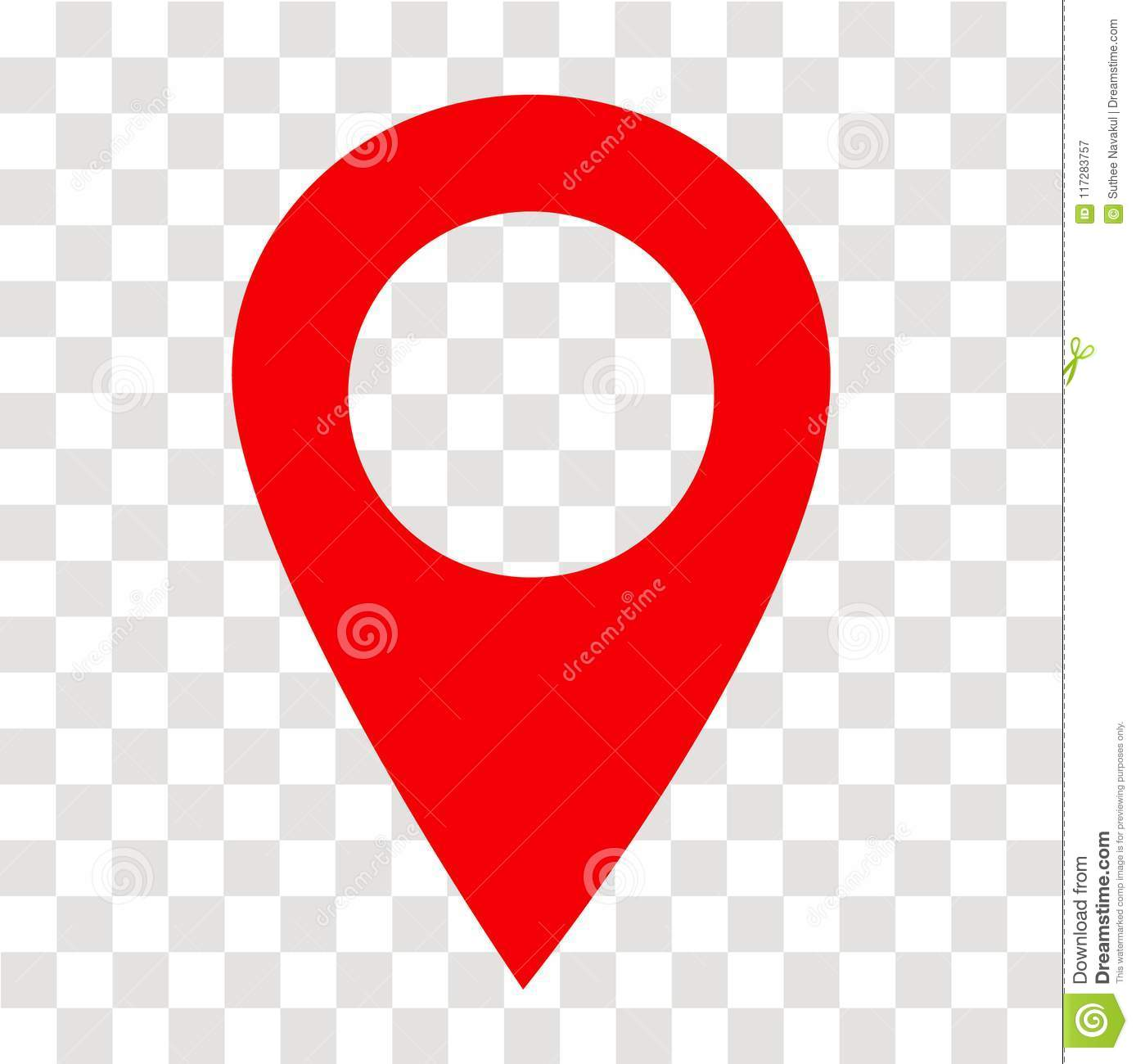 Location Pin Icon On Transparent  Location Pin Sign  Flat Style