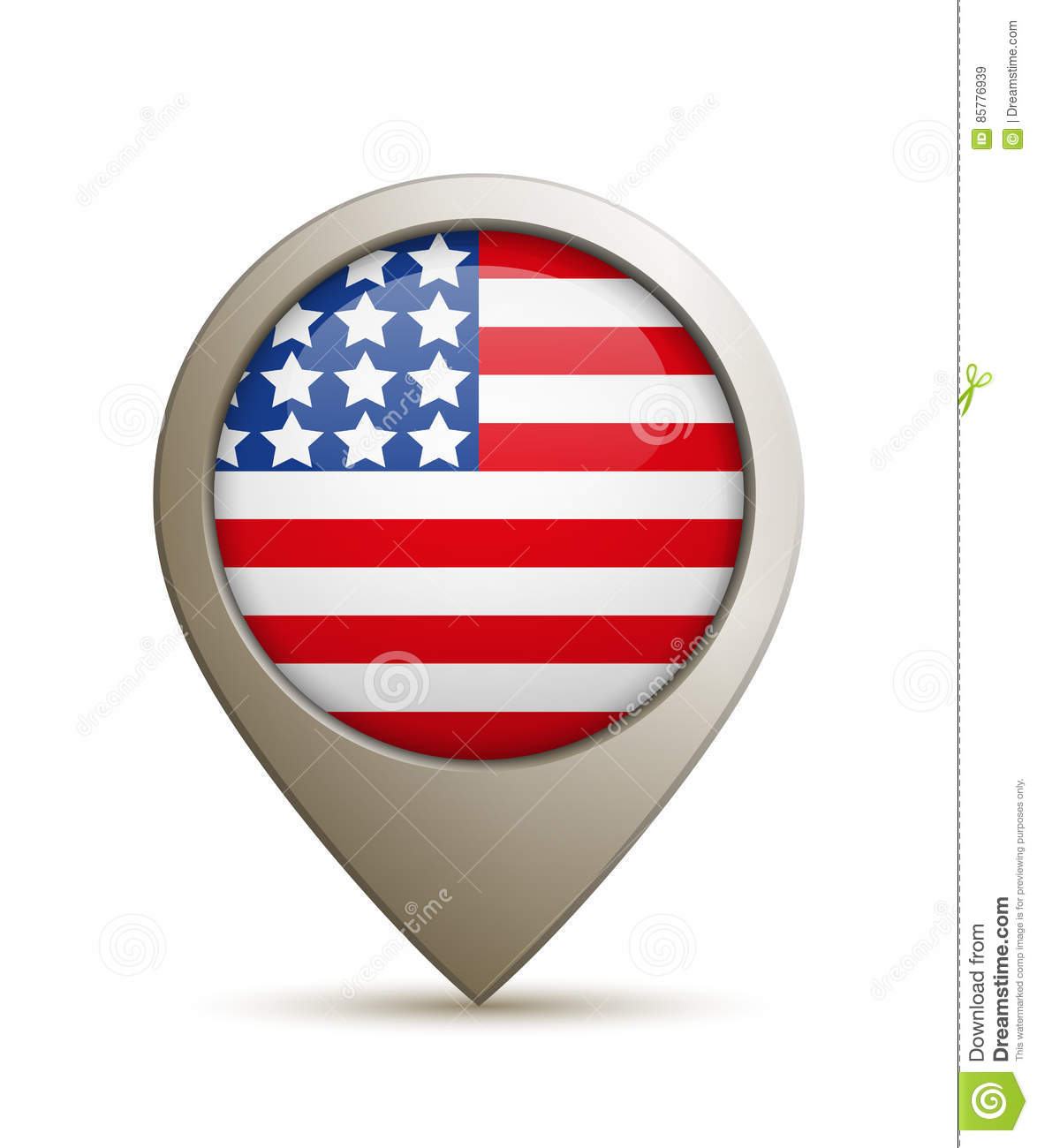 Location Pin With USA Flag Stock Vector Image - Usa location
