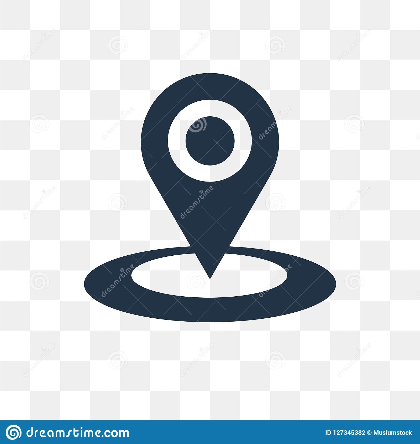 Location Vector Icon Isolated On Transparent Background