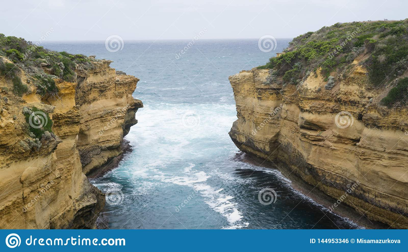 Loch Ard Gorge - one of many rock formations along The Great Ocean Road caused by water erosion, Australia