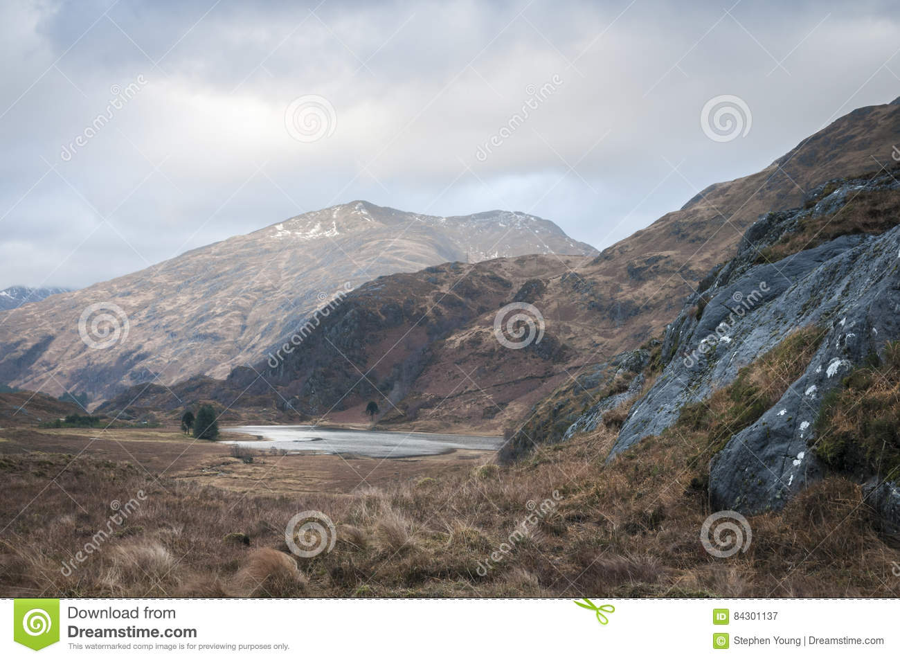 Loch Coire Shubh and the Kinloch Hourn mountains