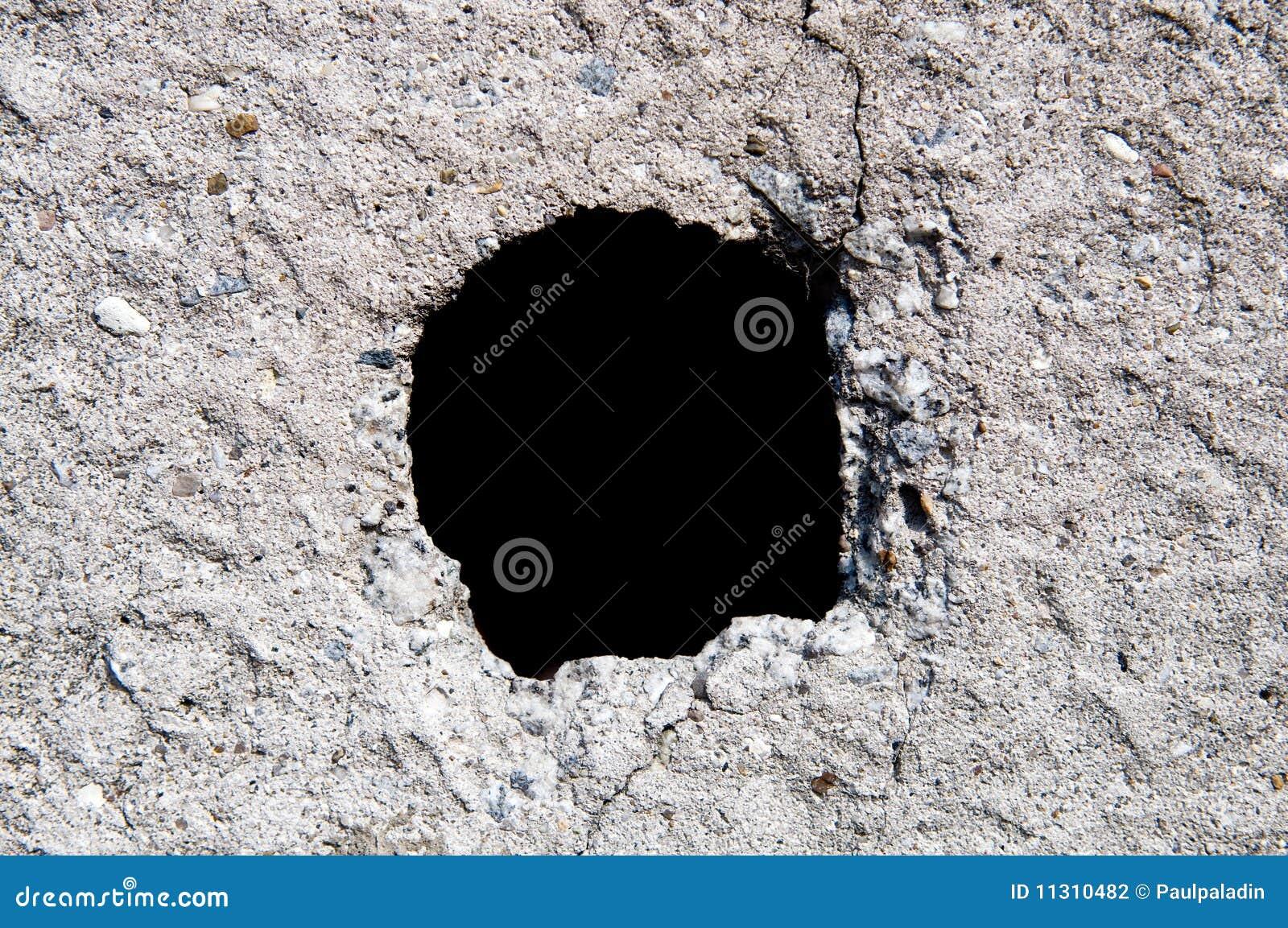 Loch in der alten Wand