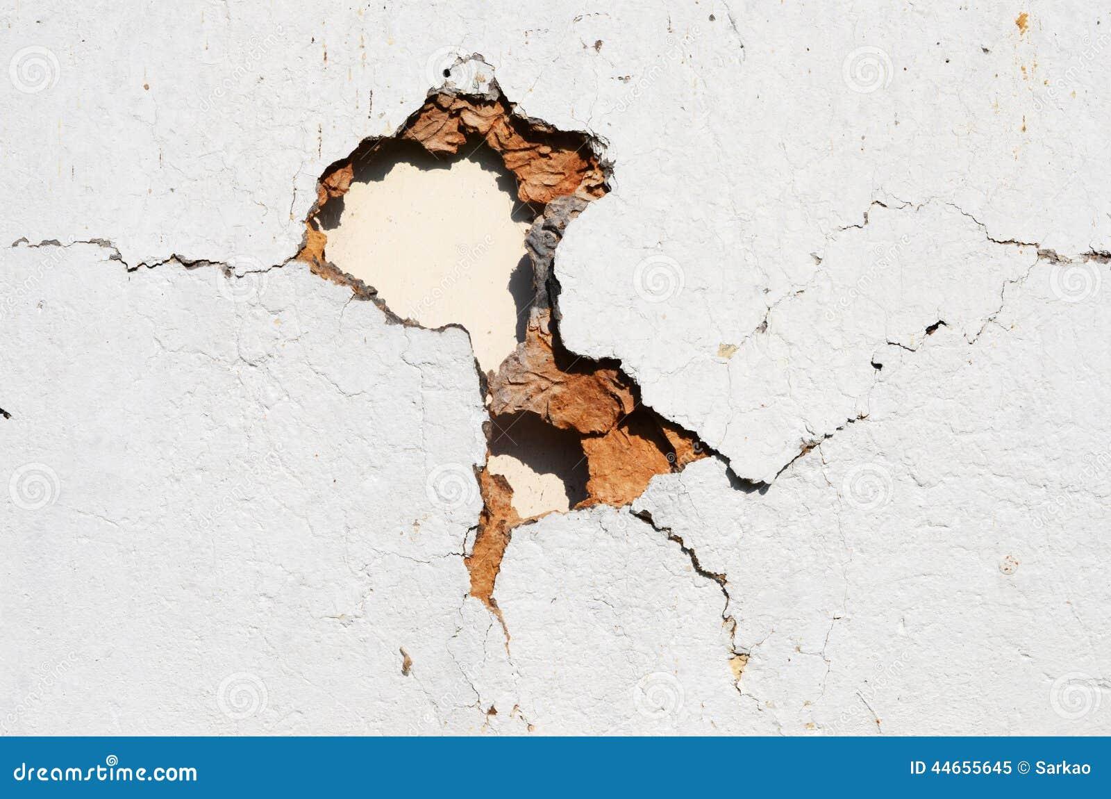 Loch in der Wand