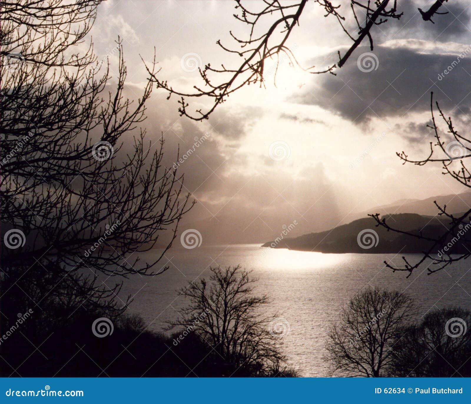 Download Loch Tay - Ecosse photo stock. Image du hiver, écossais - 62634