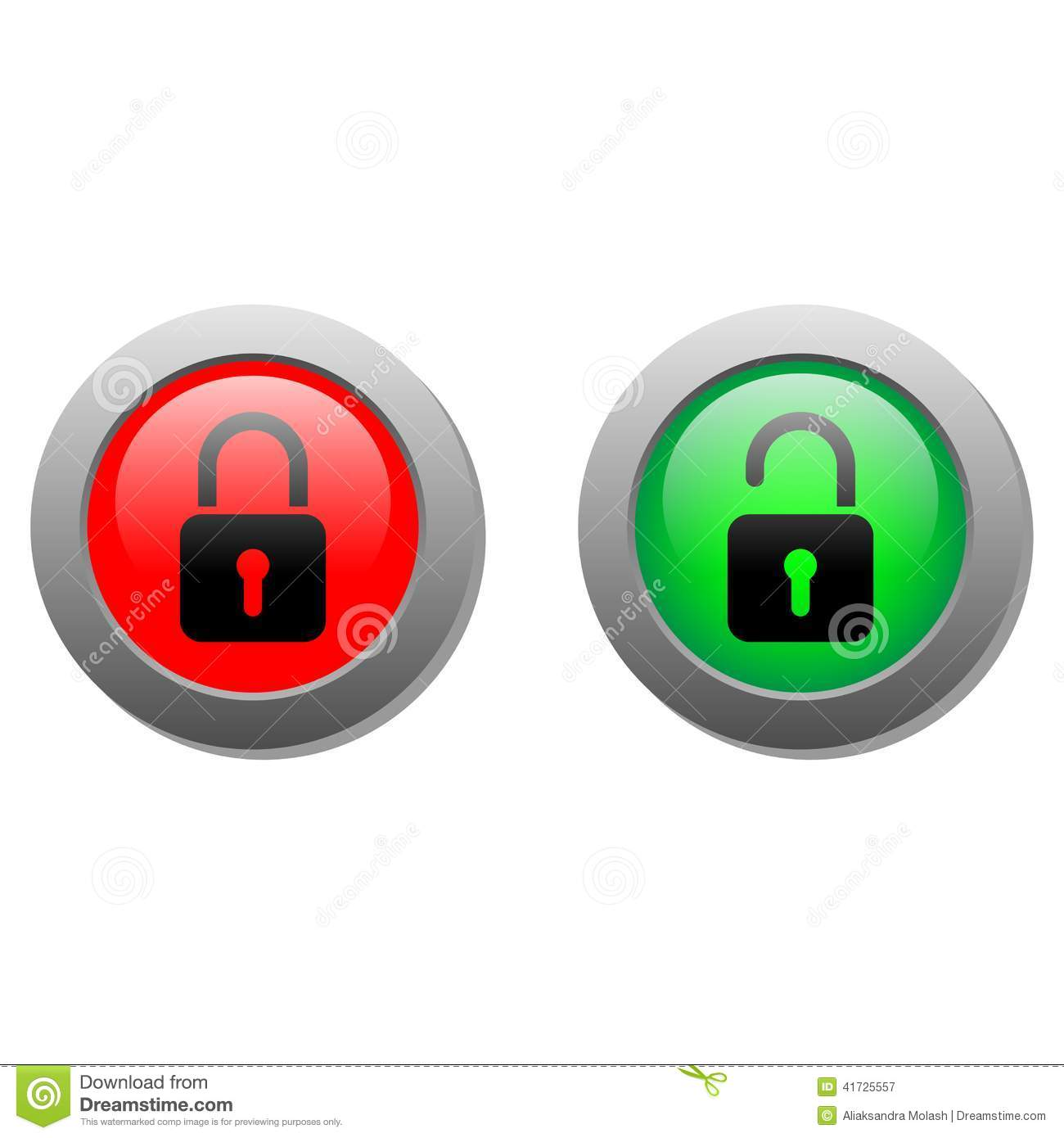 Lock Buttons Stock Illustration - Image: 41725557