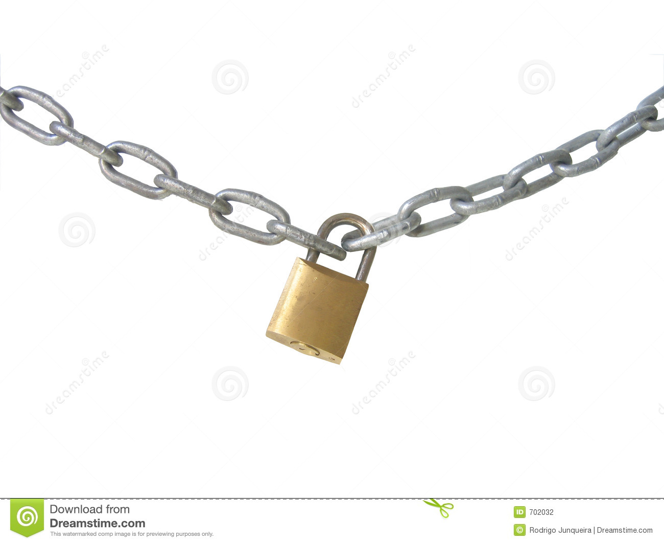Lock and chain stock photography image 702032 - How to open chain lock ...