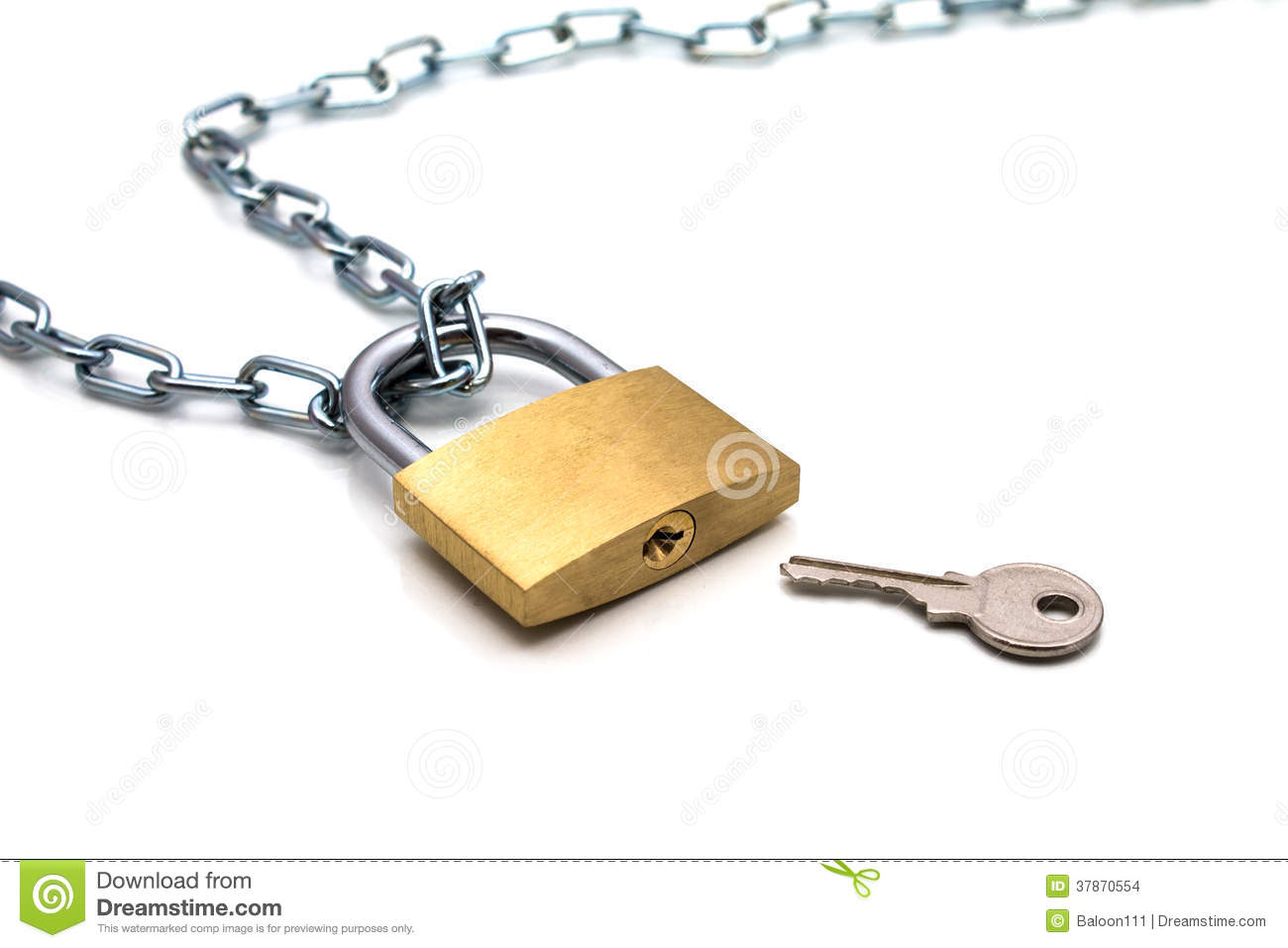 Lock chain and key stock images image 37870554 - How to open chain lock ...