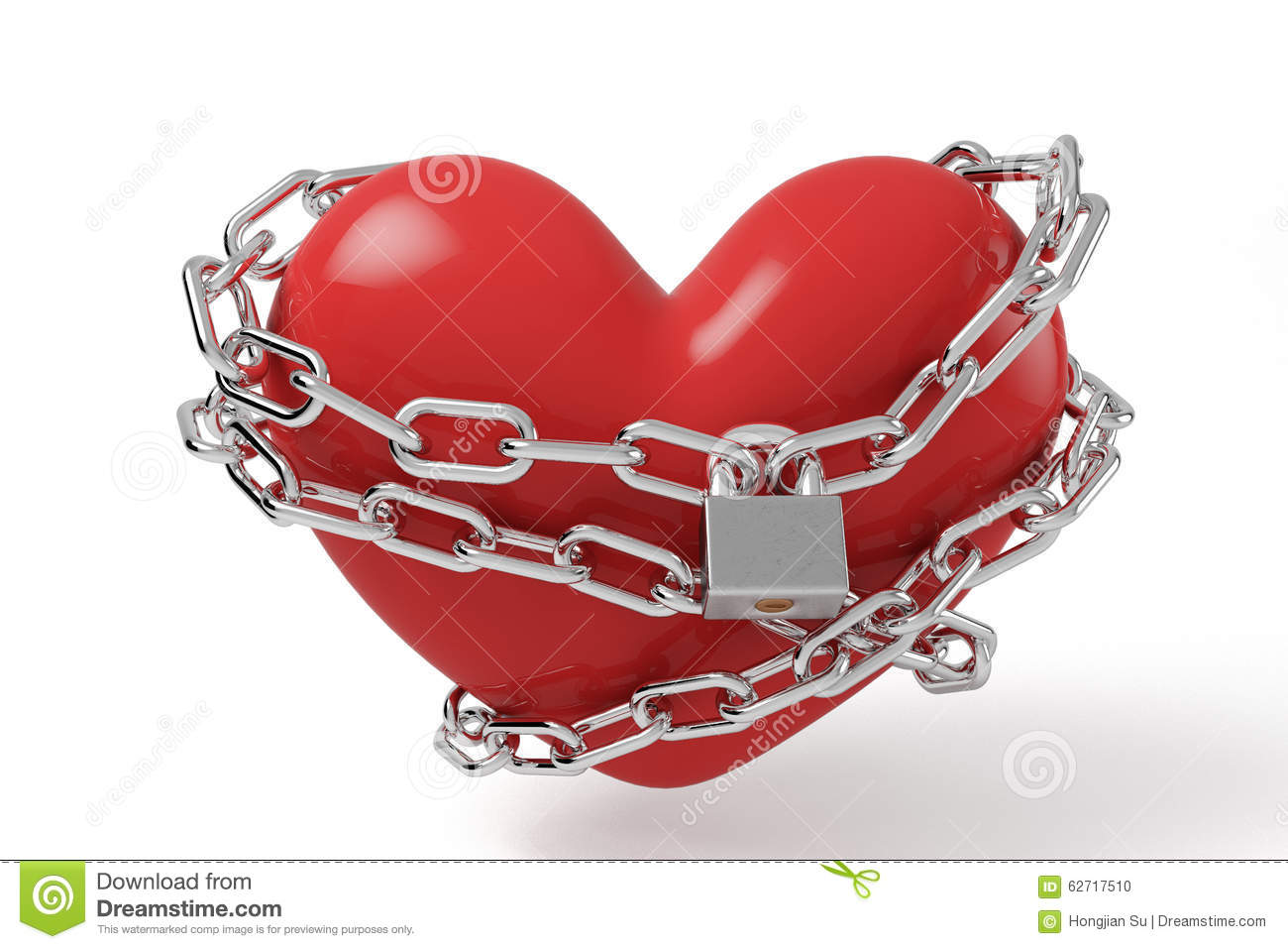 Lock heart stock illustration. Illustration of protection ...