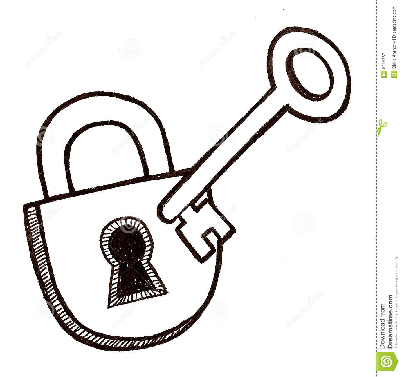 Lock And Key Royalty Free Stock Photography - Image: 8919767