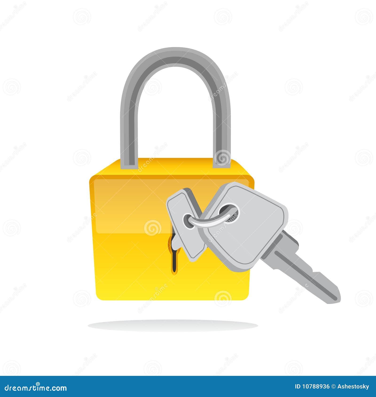 padlock and key clipart - photo #25