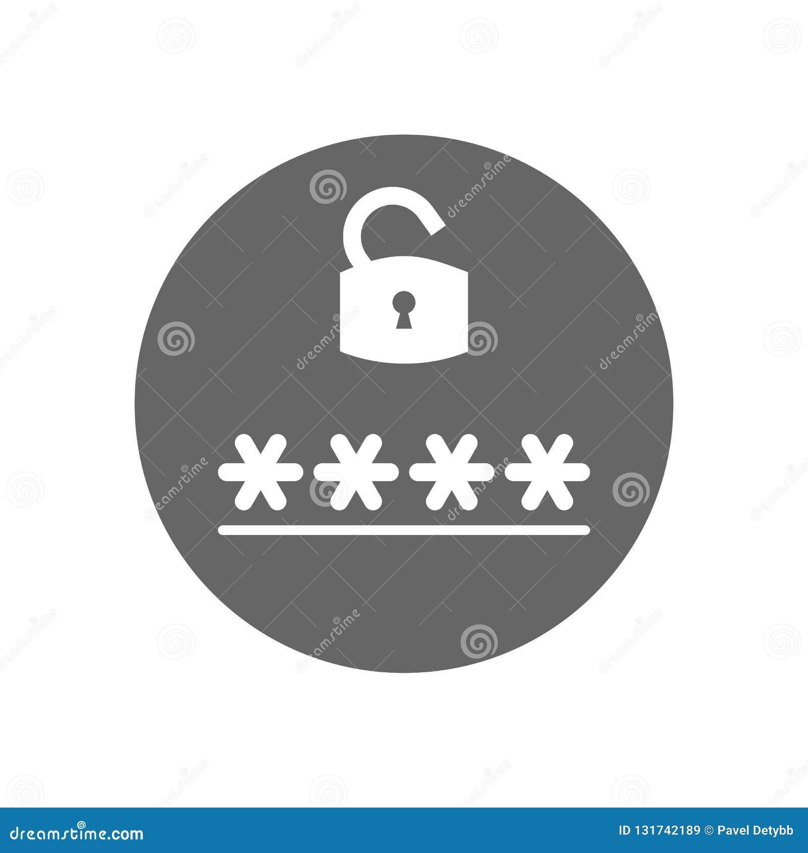 Lock, Login, Password, Safe Security Icon Vector