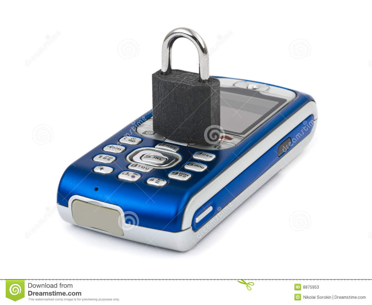 Lock and mobile phone stock photos image 8875953 for Mobel lossek