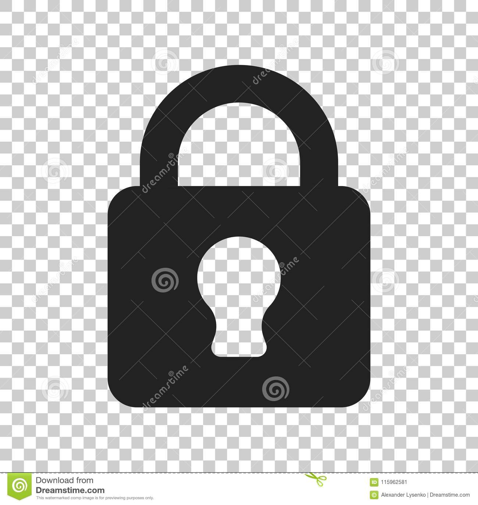Lock sign vector icon. Padlock locker illustration. Business con