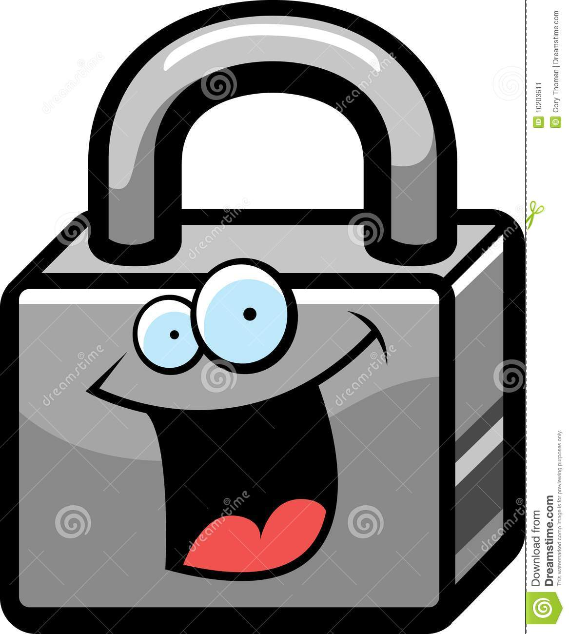Lock Smiling Stock Image - Image: 10203611