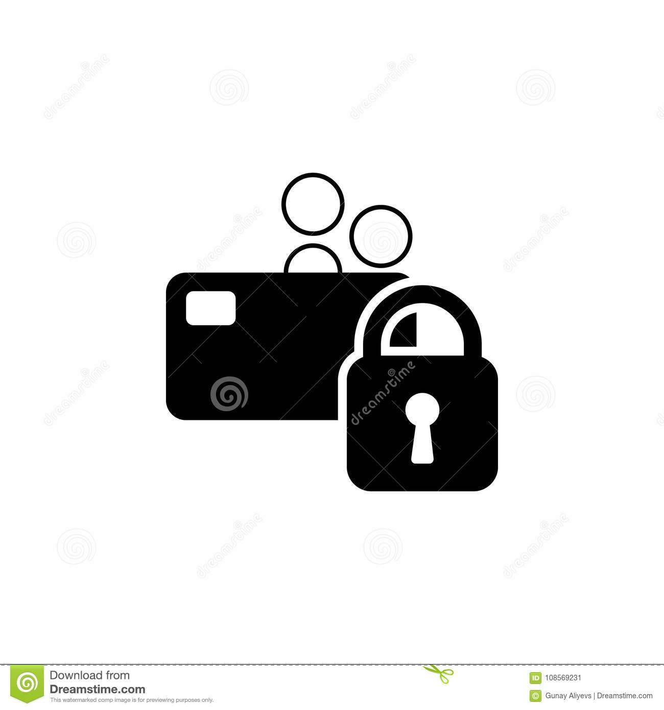 Locked Bank Card  Credit Card With Lock Icon  Elements Of Cyber