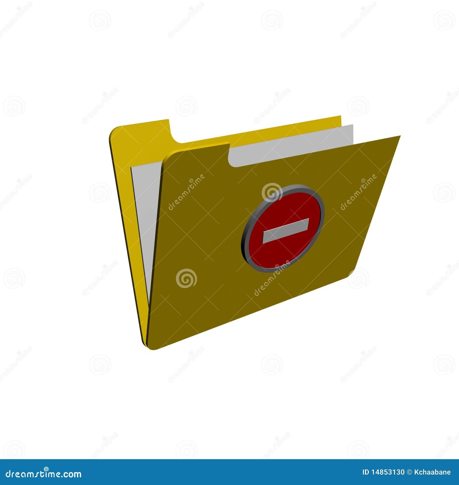 Locked Folder Stock Photo - Image: 14853130