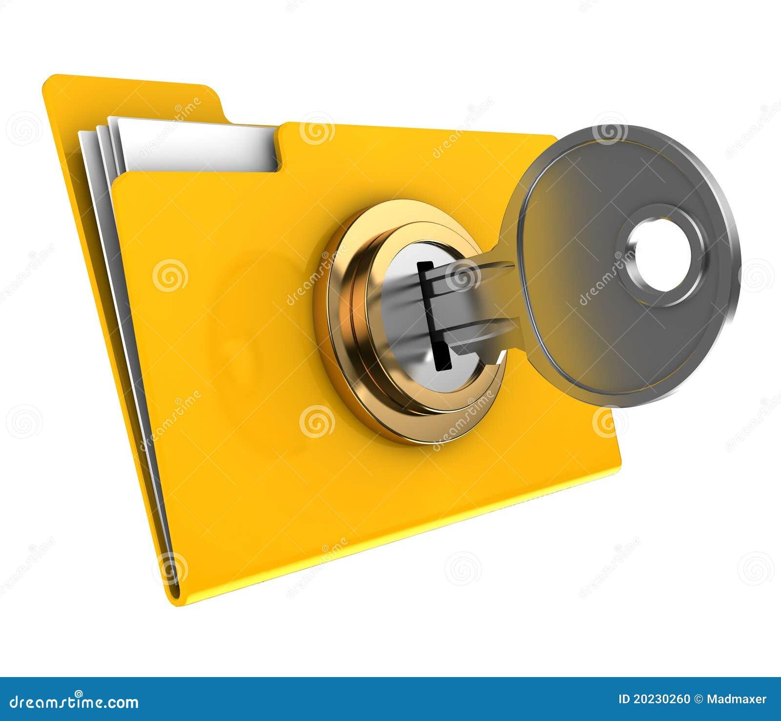 Locked Folder Stock Photo - Image: 20230260
