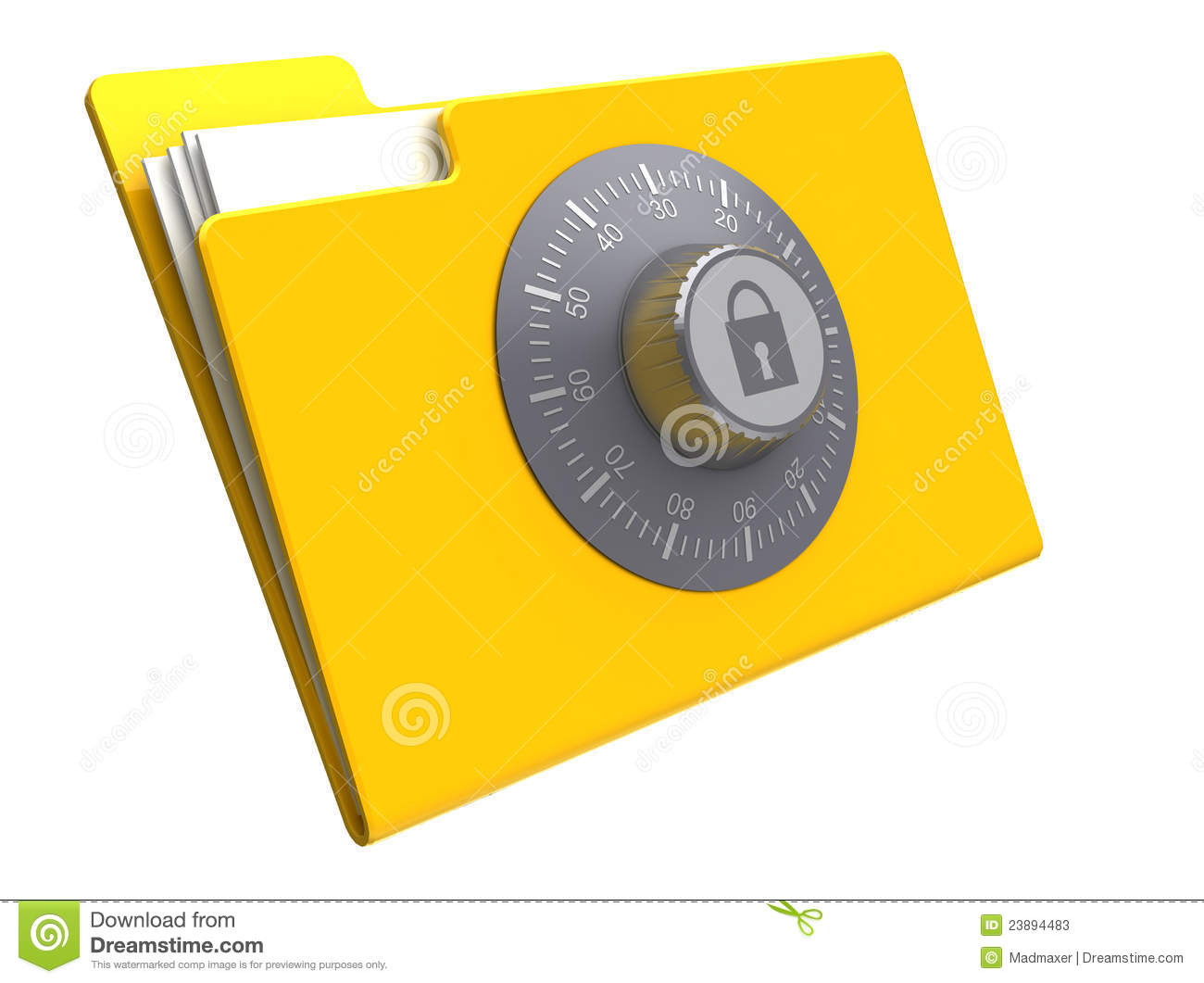 Locked Folder Stock Photos - Image: 23894483