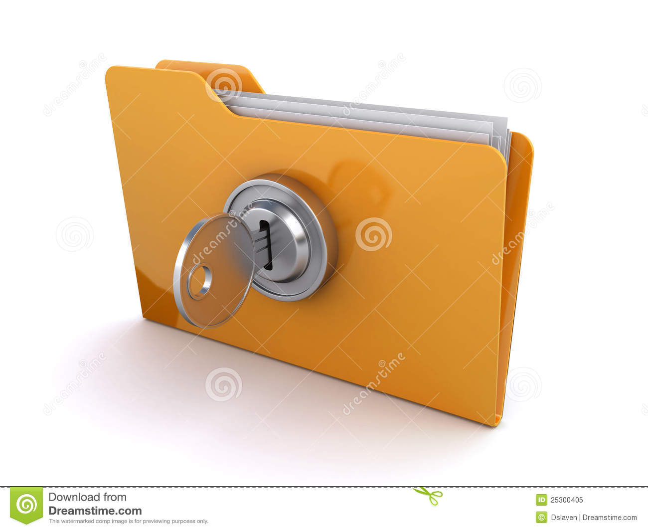 how to make folder with a lock