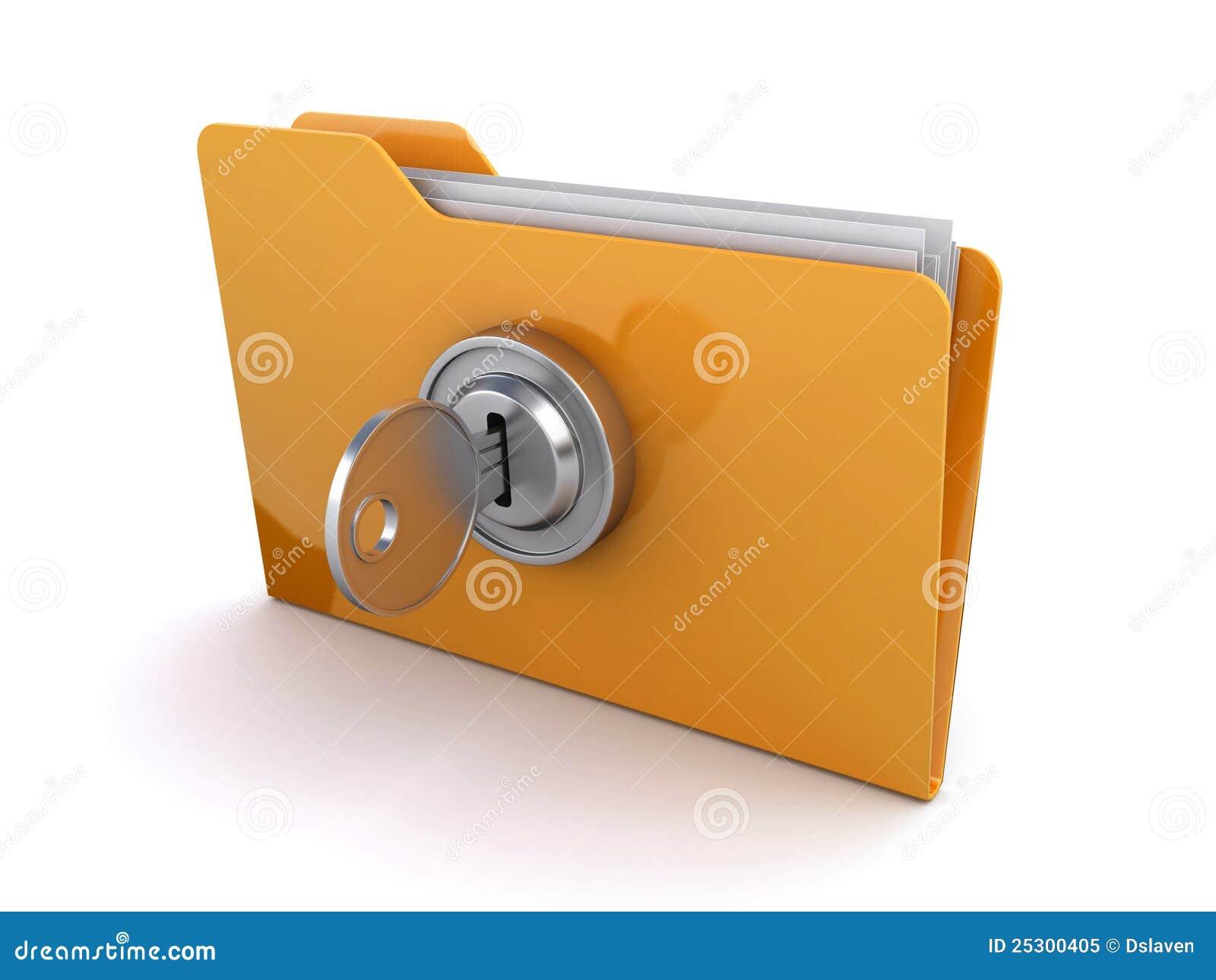 Locked Folder Royalty Free Stock Photo - Image: 25300405