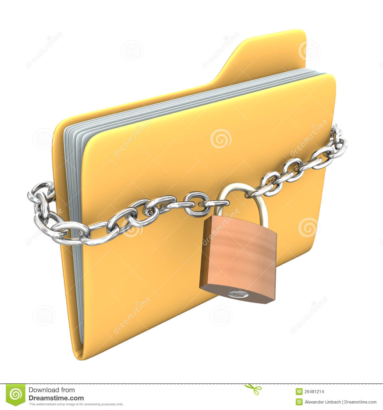 Locked Folder Stock Images - Image: 26481214