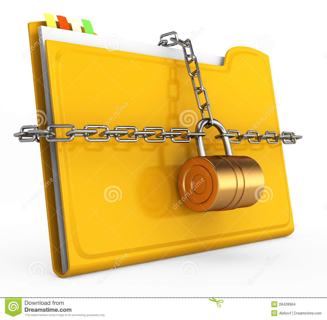 Locked Folder Stock Images - Image: 28428984
