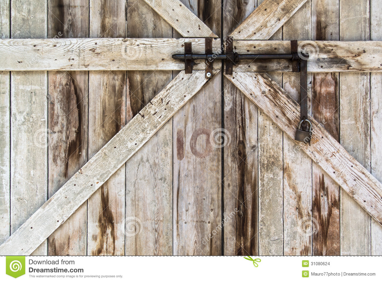 Locked Old Door Stock Photo Image Of Retro Lock Home