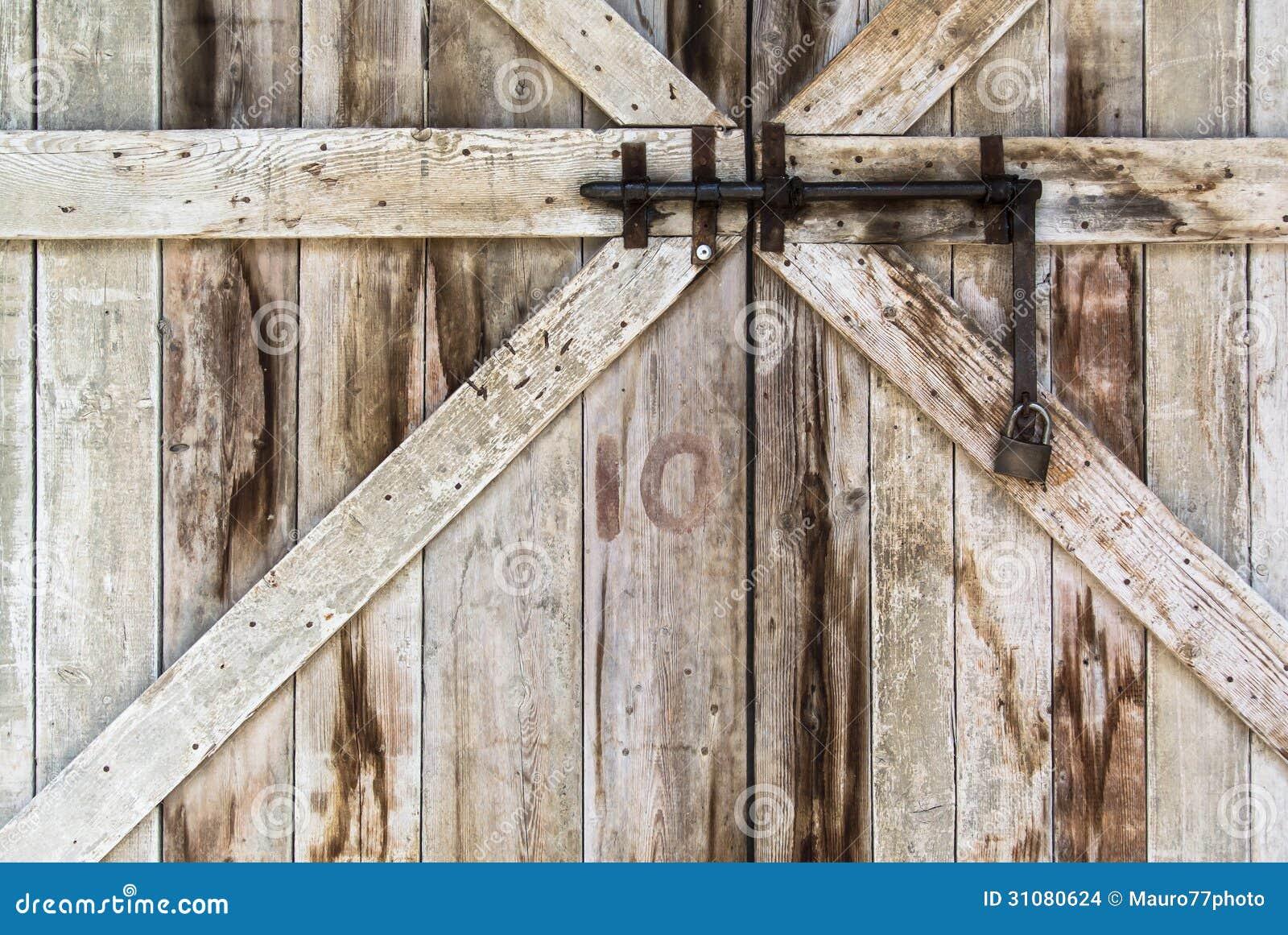 Locked Old Door Stock Photo Image Of Retro Lock Home 31080624