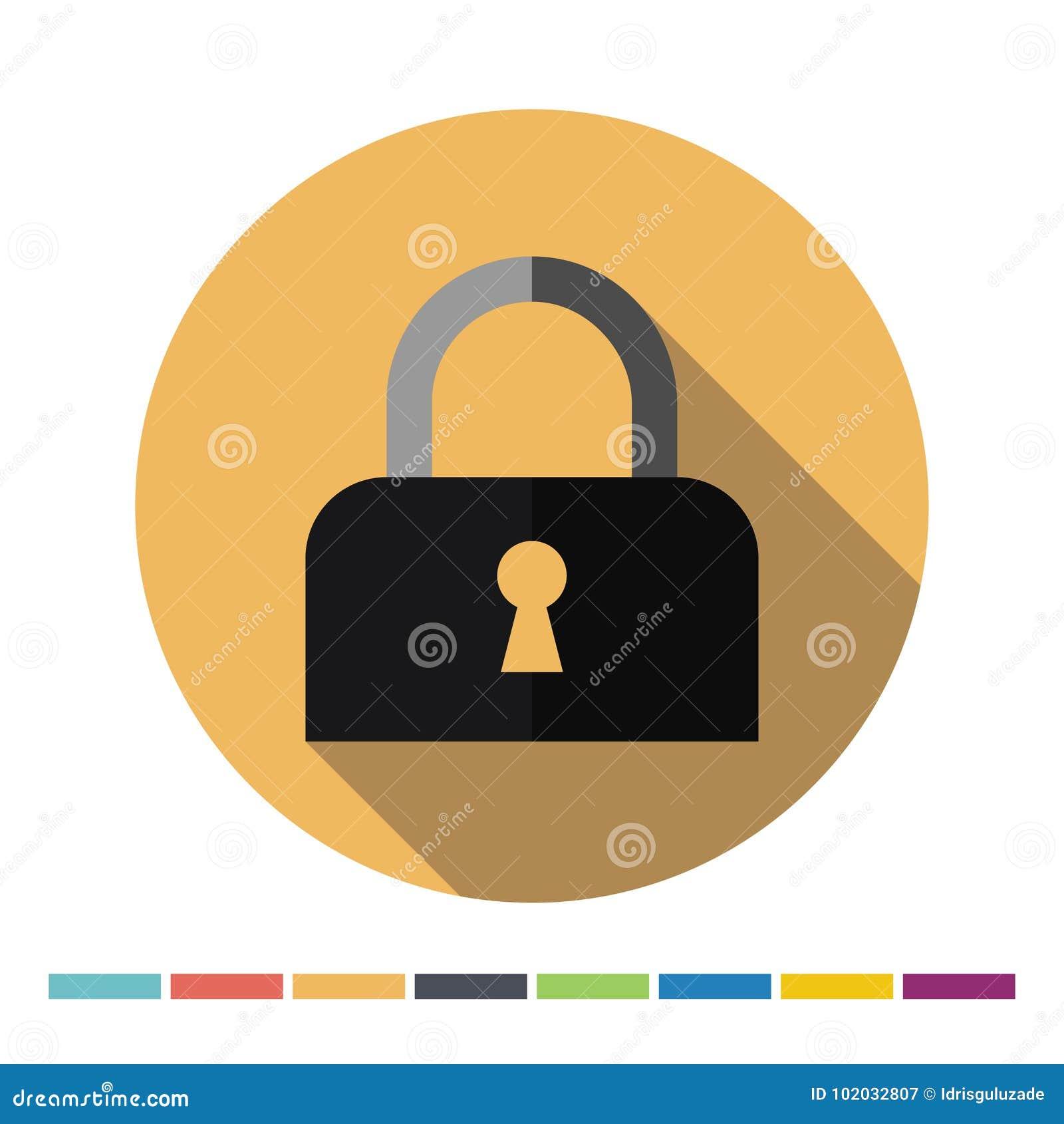 Locked padlock icon