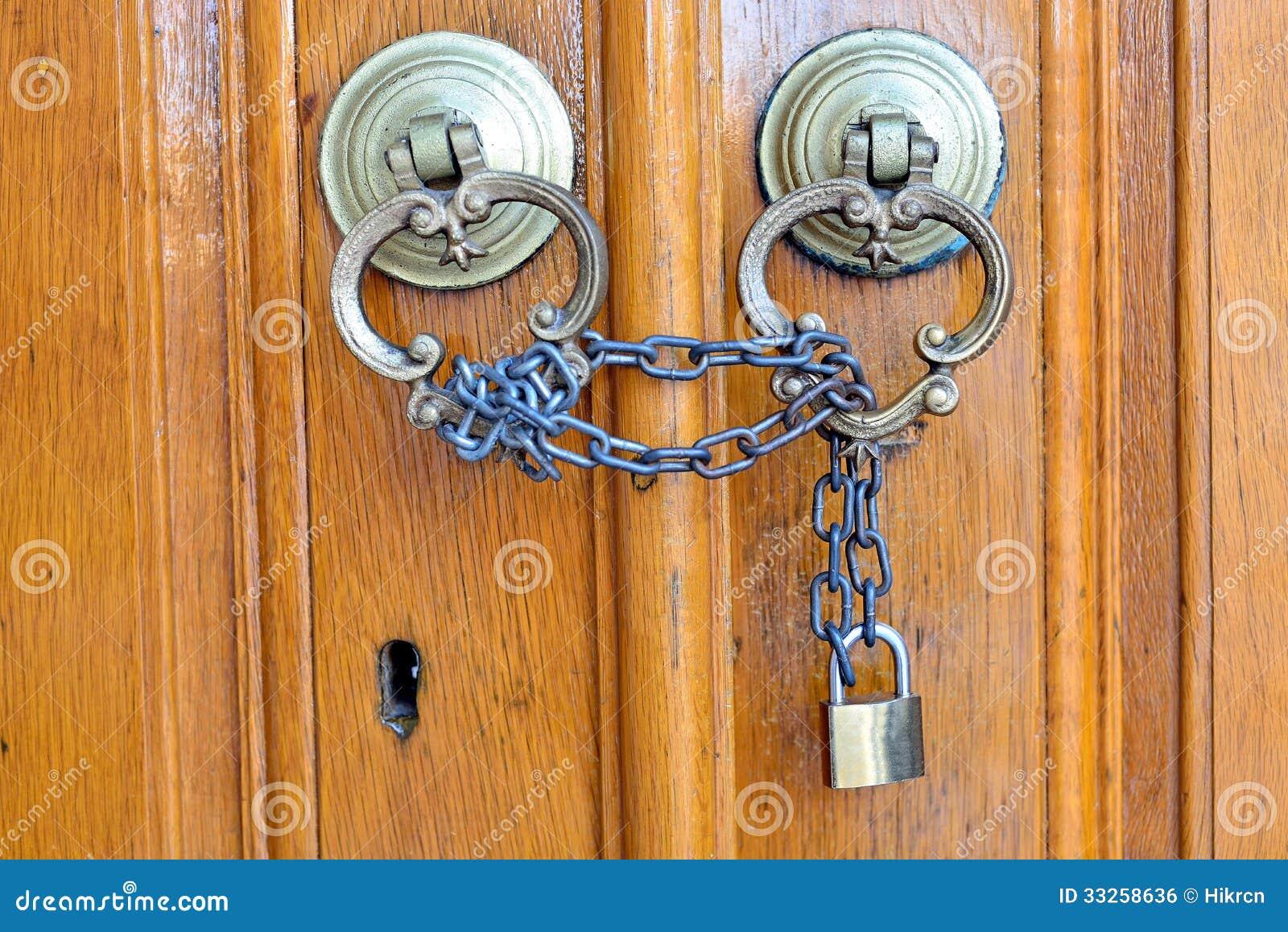 Old wooden door clipart - Locked Wooden Door