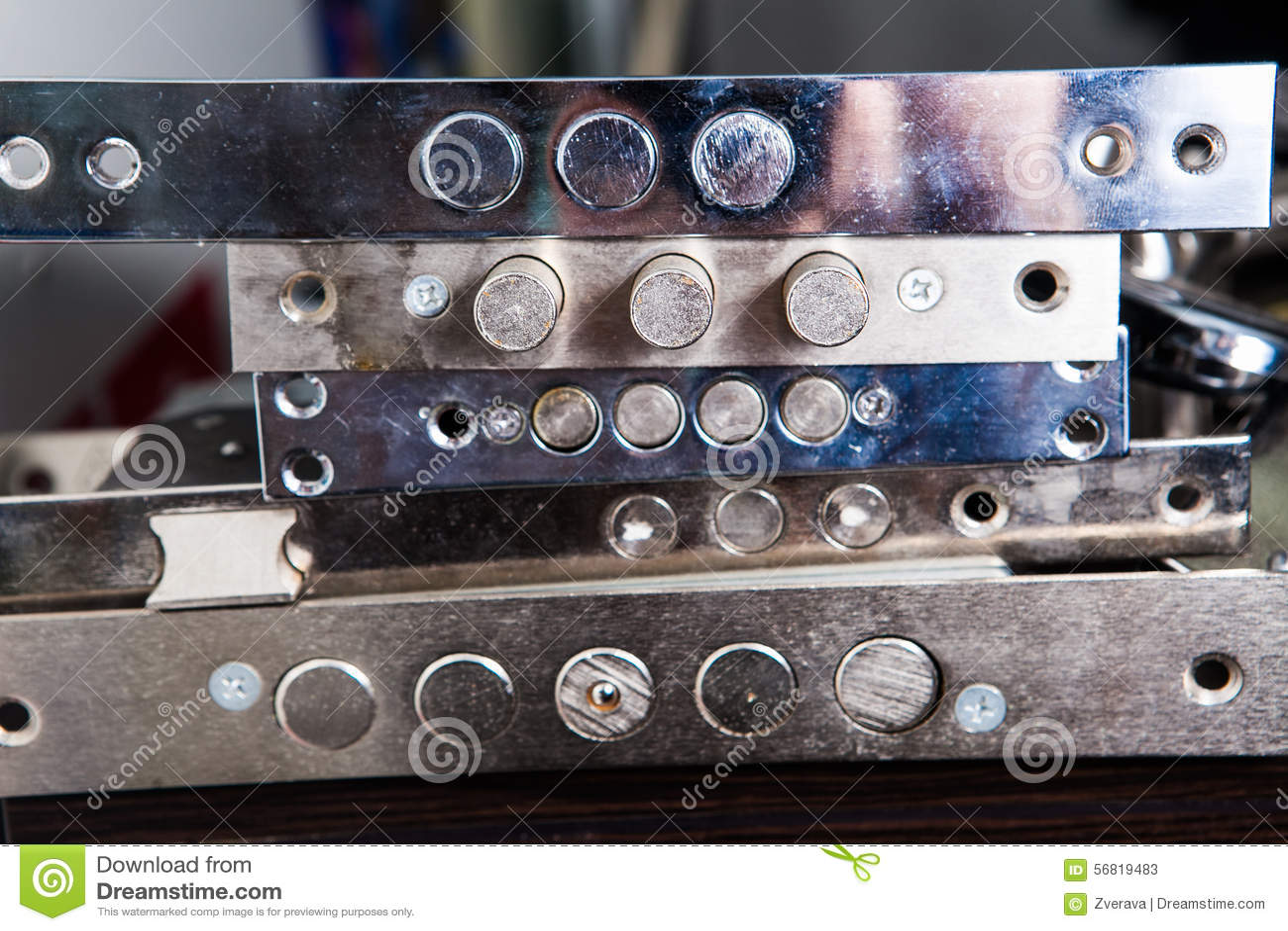 Locking Mechanisms Metal Door Lock Stock Image Image Of Keyhole