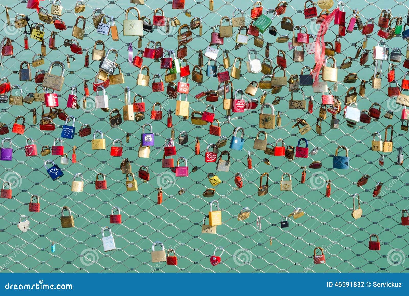 Locks On The Bridge Symbol Of Loyalty And Eternal Love Editorial