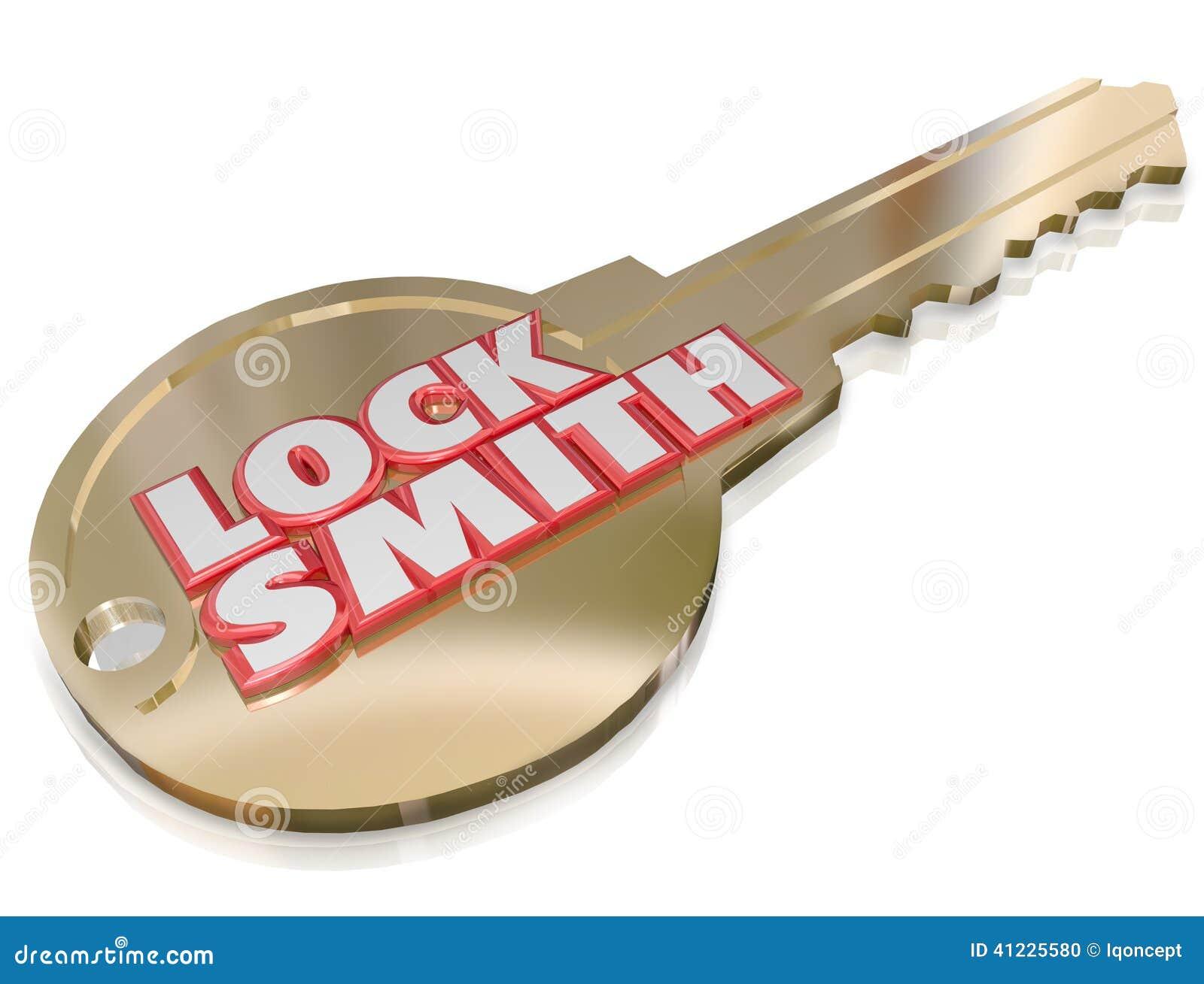Locksmith Gold Key Word Profession Job Worker