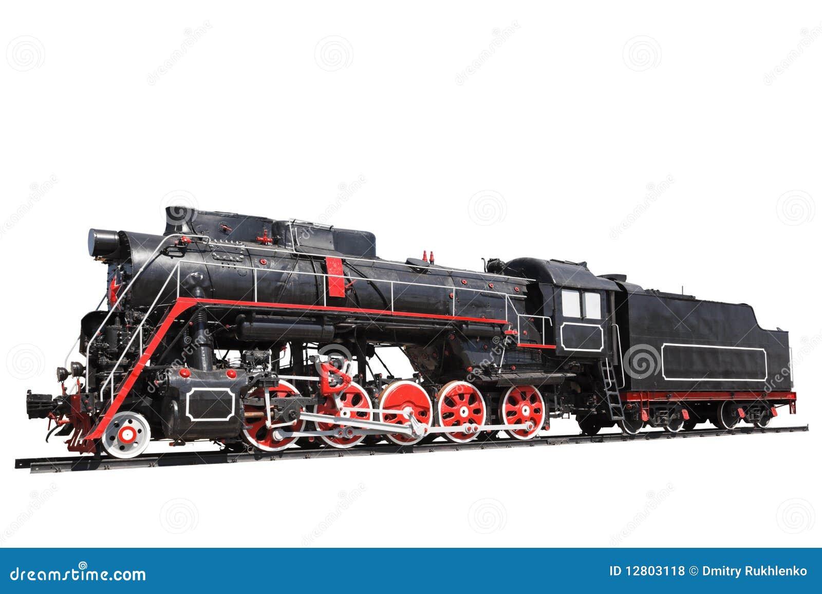 Locomotiva de vapor isolada