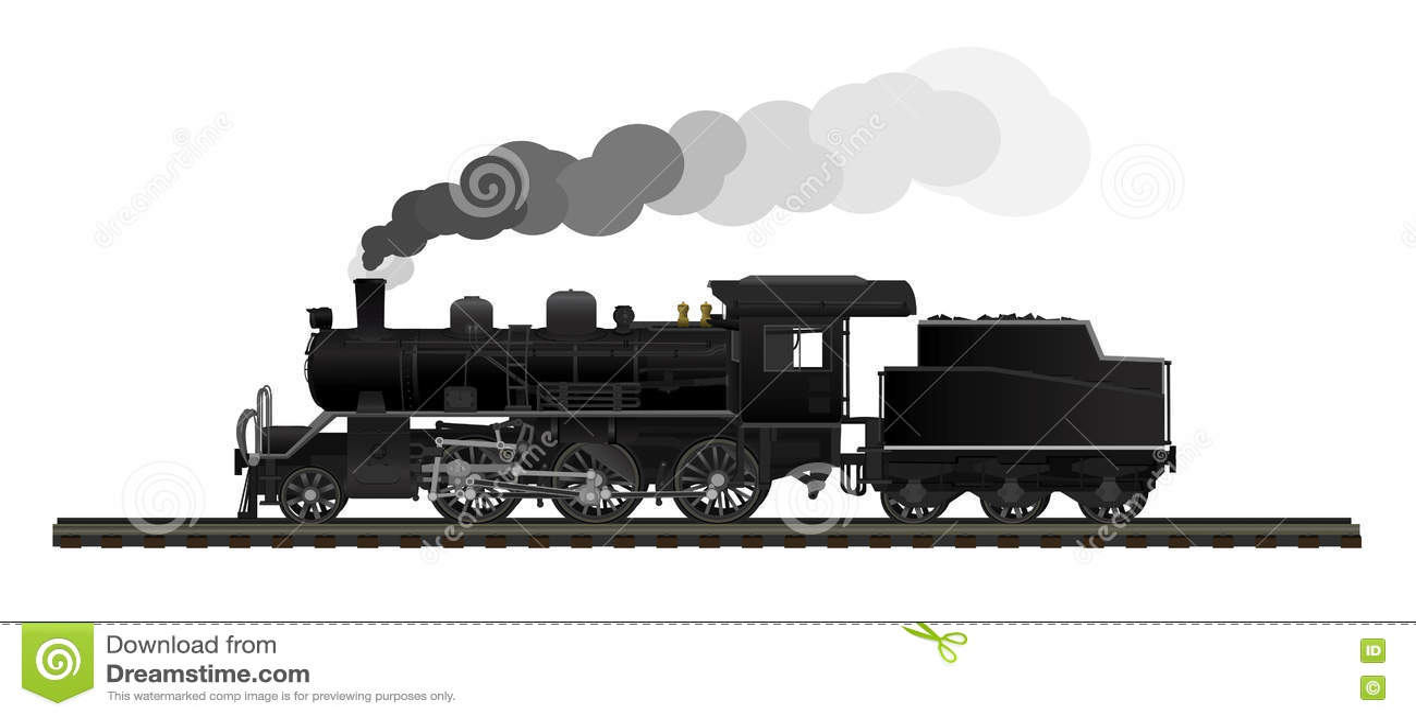 Locomotiva de vapor velha